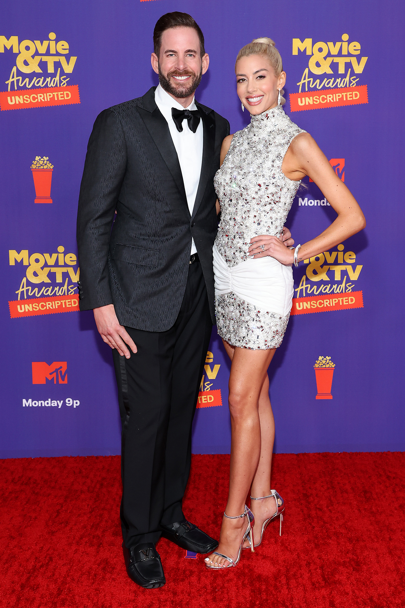Tarek El Moussa and Heather Rae Young -- 2021 MTV Movie & TV Awards: UNSCRIPTED - Arrivals