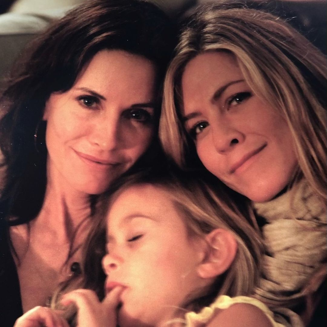 Courteney Cox and jen and Coco