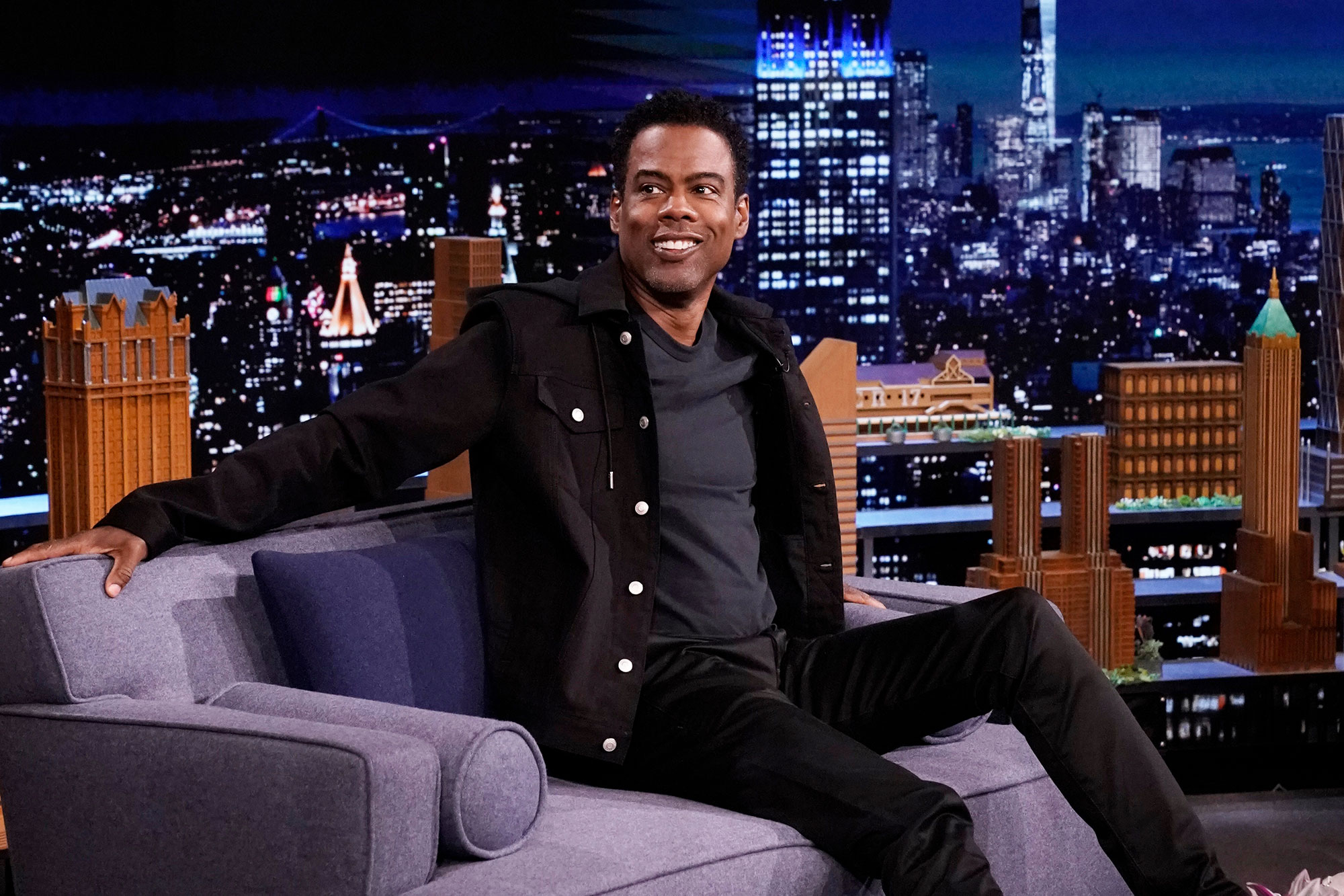 THE TONIGHT SHOW STARRING JIMMY FALLON -- Episode 1465 -- Pictured: Comedian Chris Rock during an interview on Tuesday, May 18, 2021
