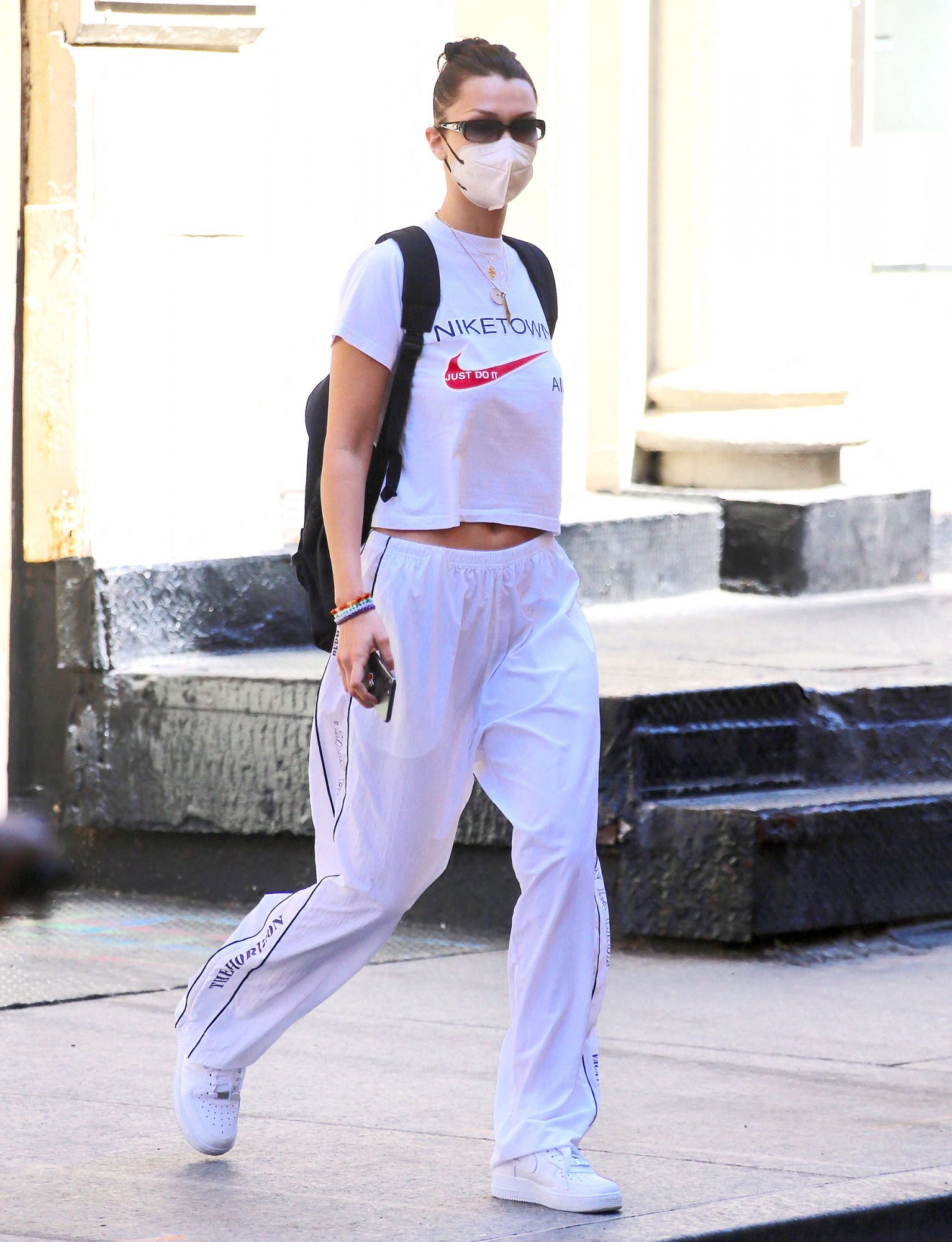 Bella Hadid is going to a private apartment in Soho, New York, NY on May 18, 2021
