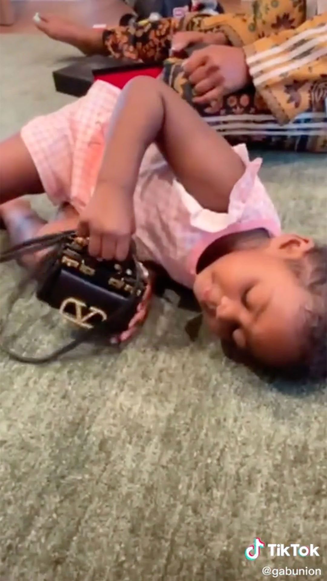 Kaavia Is in Awe, Models New Valentino Purse Gifted from Mom Gabrielle Union