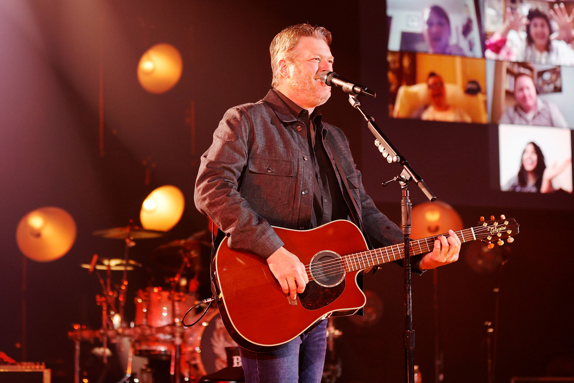 Blake Shelton performs live onstage at the iHeartCountry Album Release Party with Blake Shelton at iHeartRadio Theater on May 20, 2021