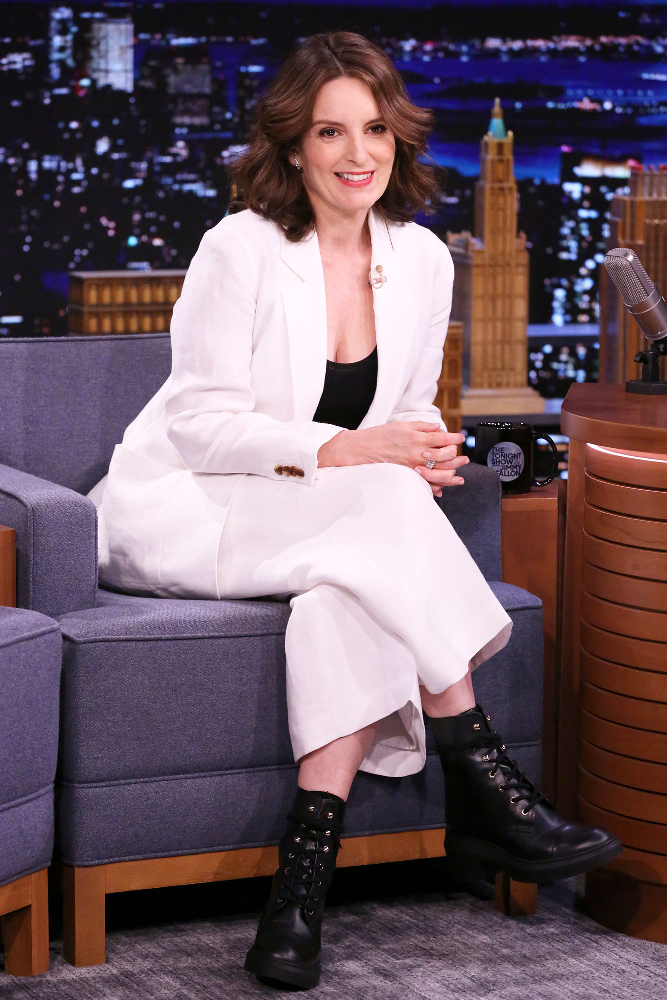 THE TONIGHT SHOW STARRING JIMMY FALLON -- Episode 1467 -- Pictured: Actress Tina Fey during an interview on Thursday, May 20, 2021