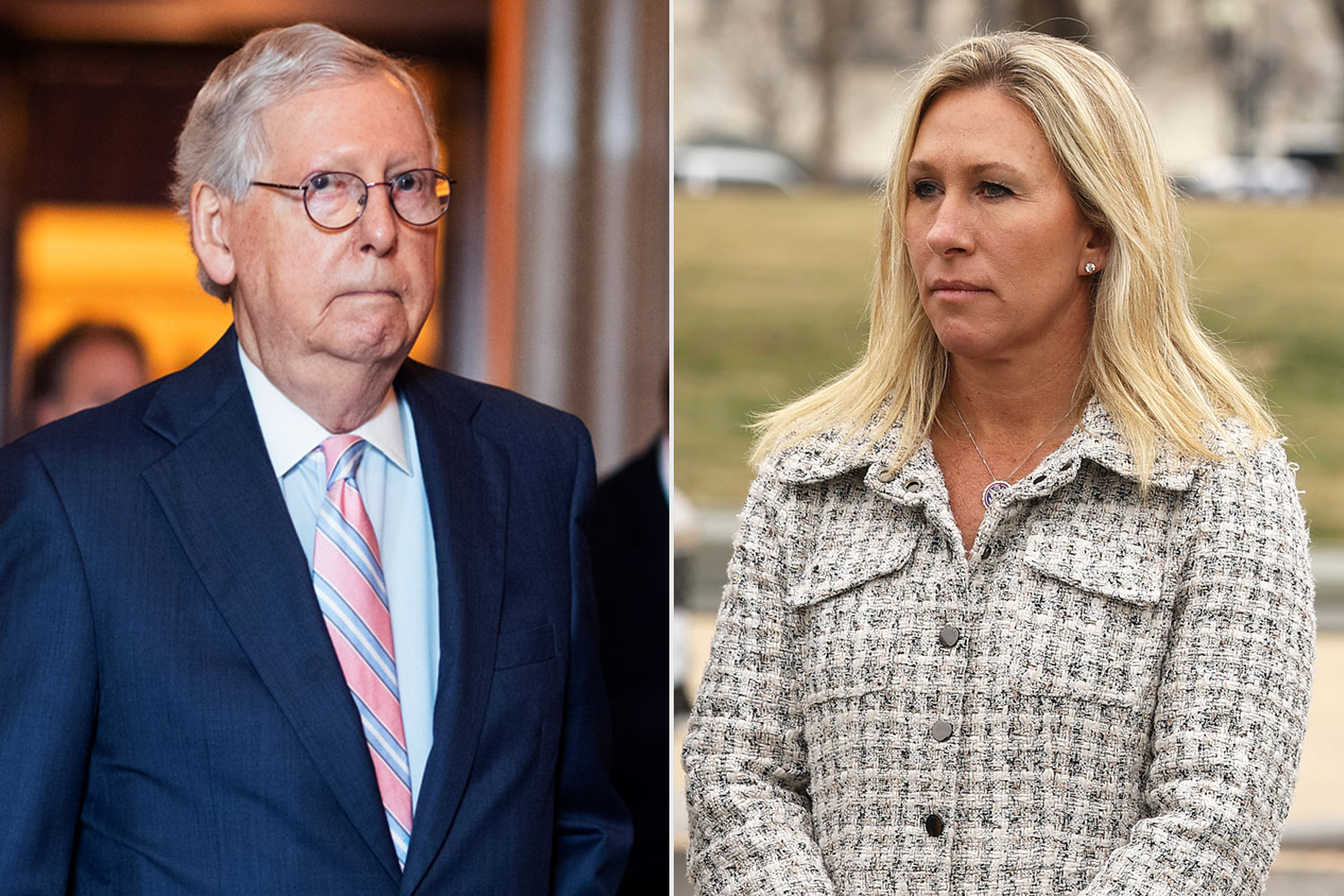 Mitch McConnell and Marjorie Taylor Greene