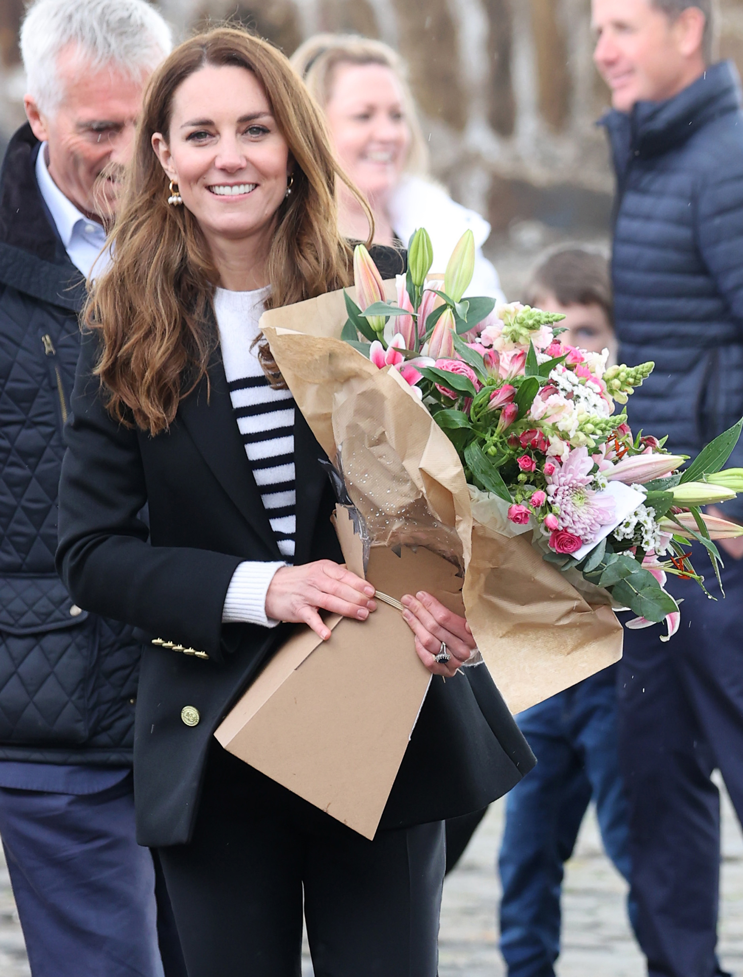 Catherine, Duchess of Cambridge and Prince William, Duke of Cambridge as they meet local fishermen and their families to hear about the work of fishing communities