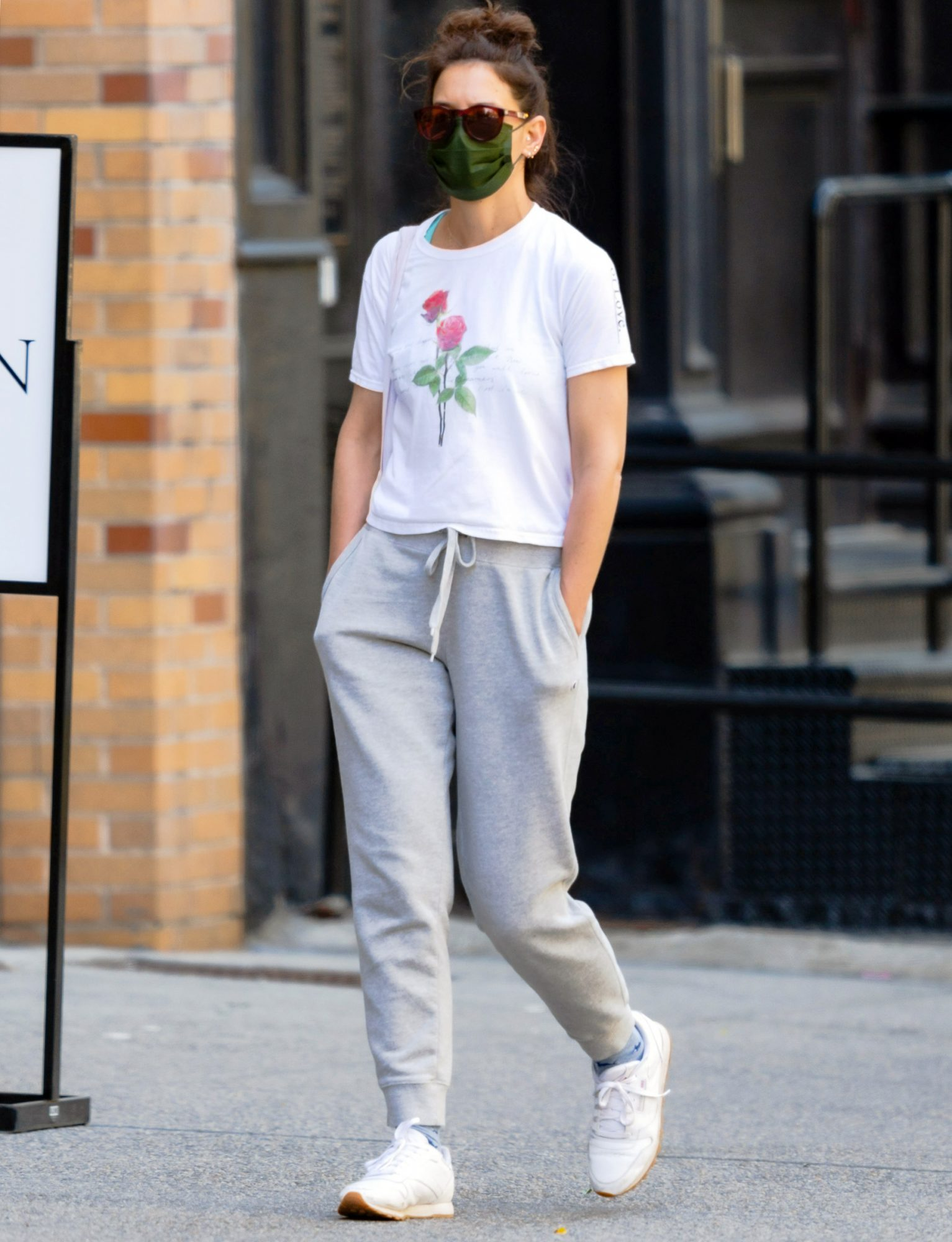 Katie Holmes is Pictured Stepping Out in New York City.