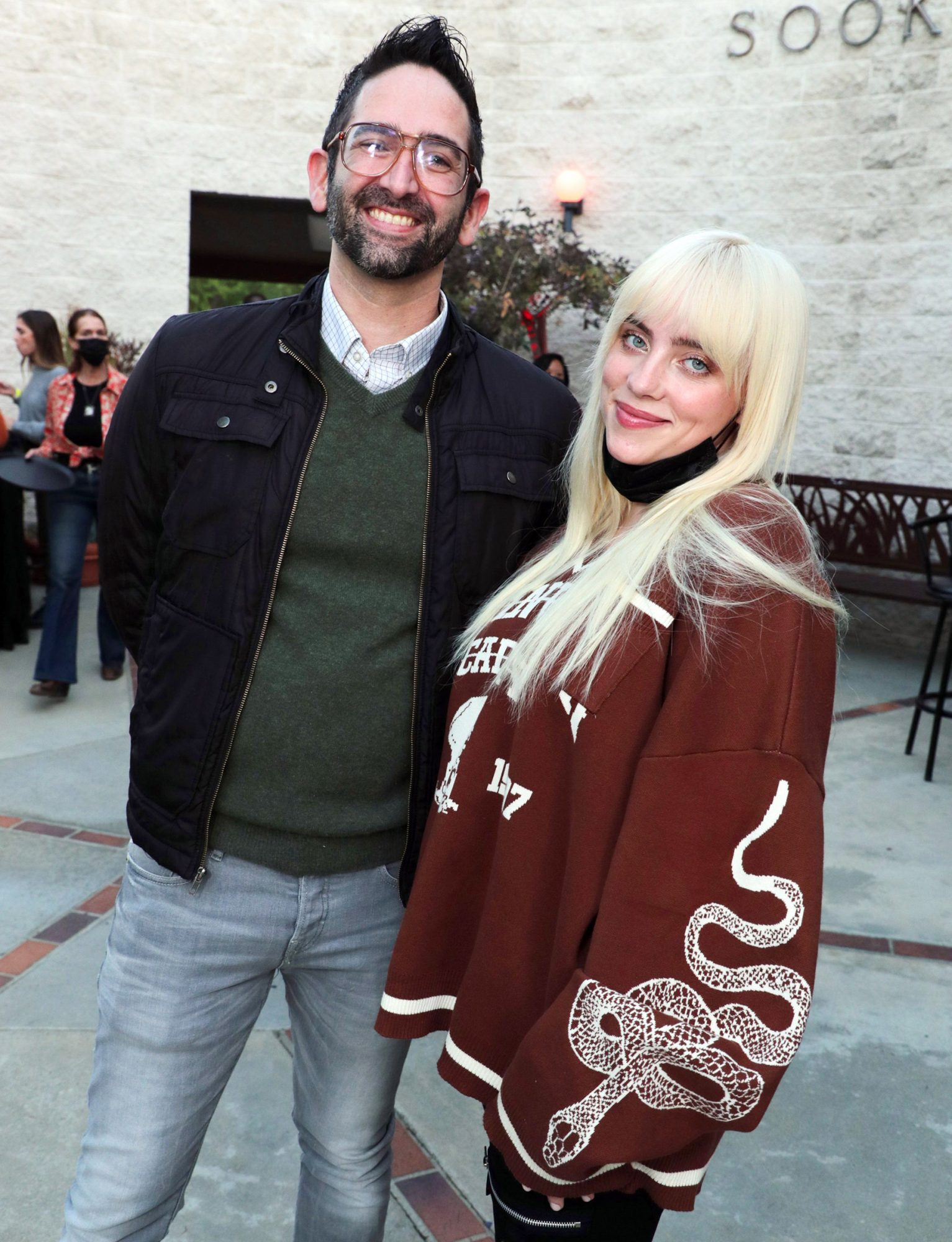 Director Michael Chaves and Billie Eilish New Line Cinema 'The Conjuring: The Devil Made Me Do It' special film screening, Los Angeles, California, USA - 27 May 2021