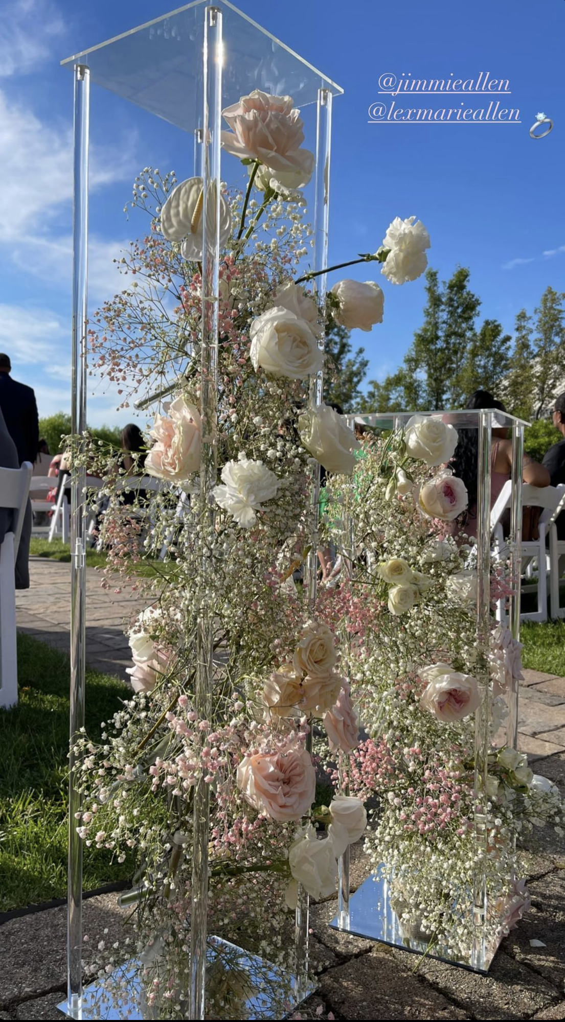 Flowers at country star Jimmie Allen's wedding