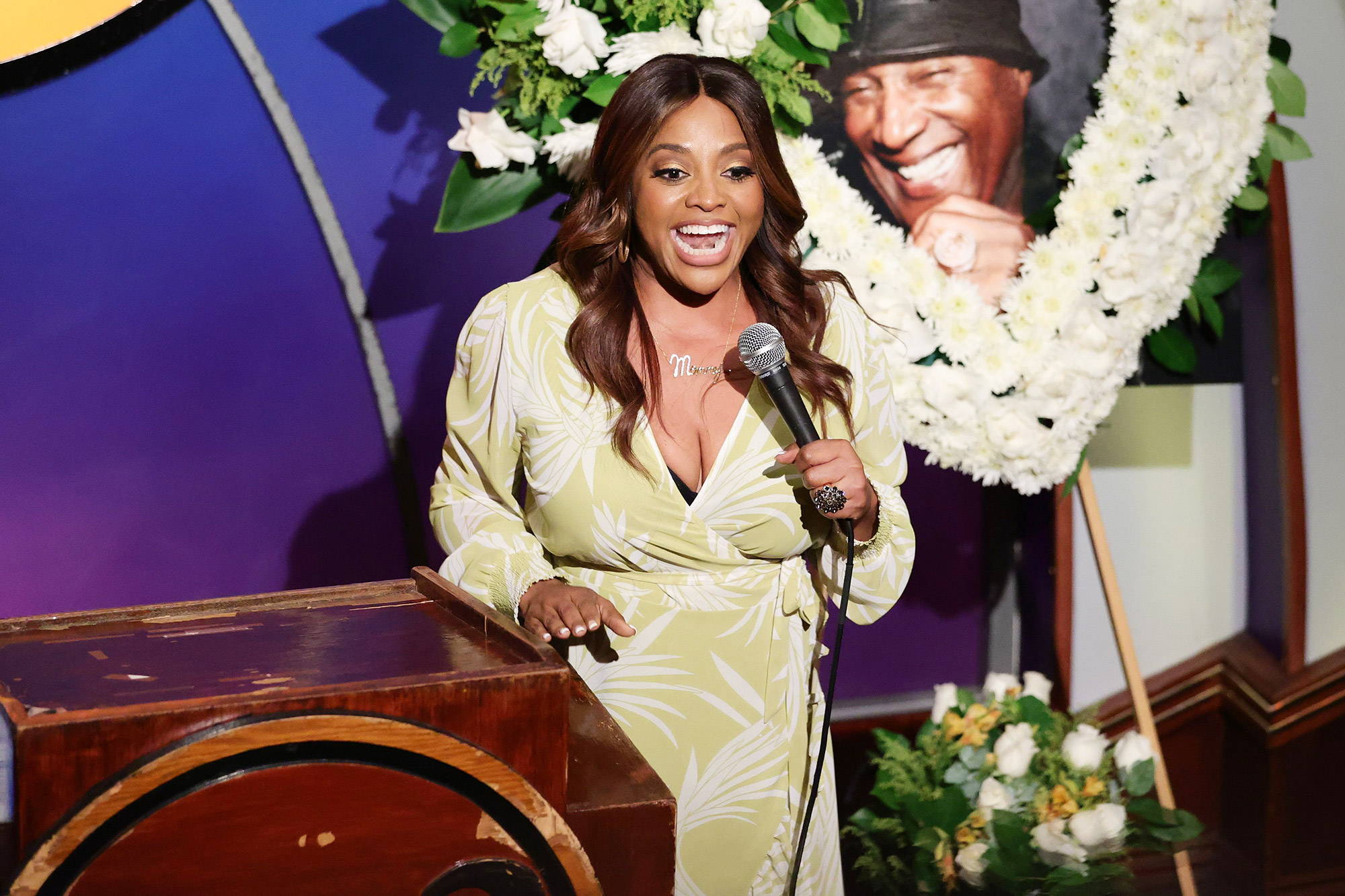 Sherri Shepherd speaks during the Paul Mooney Tribute Show at The Laugh Factory on May 27, 2021 in West Hollywood, California
