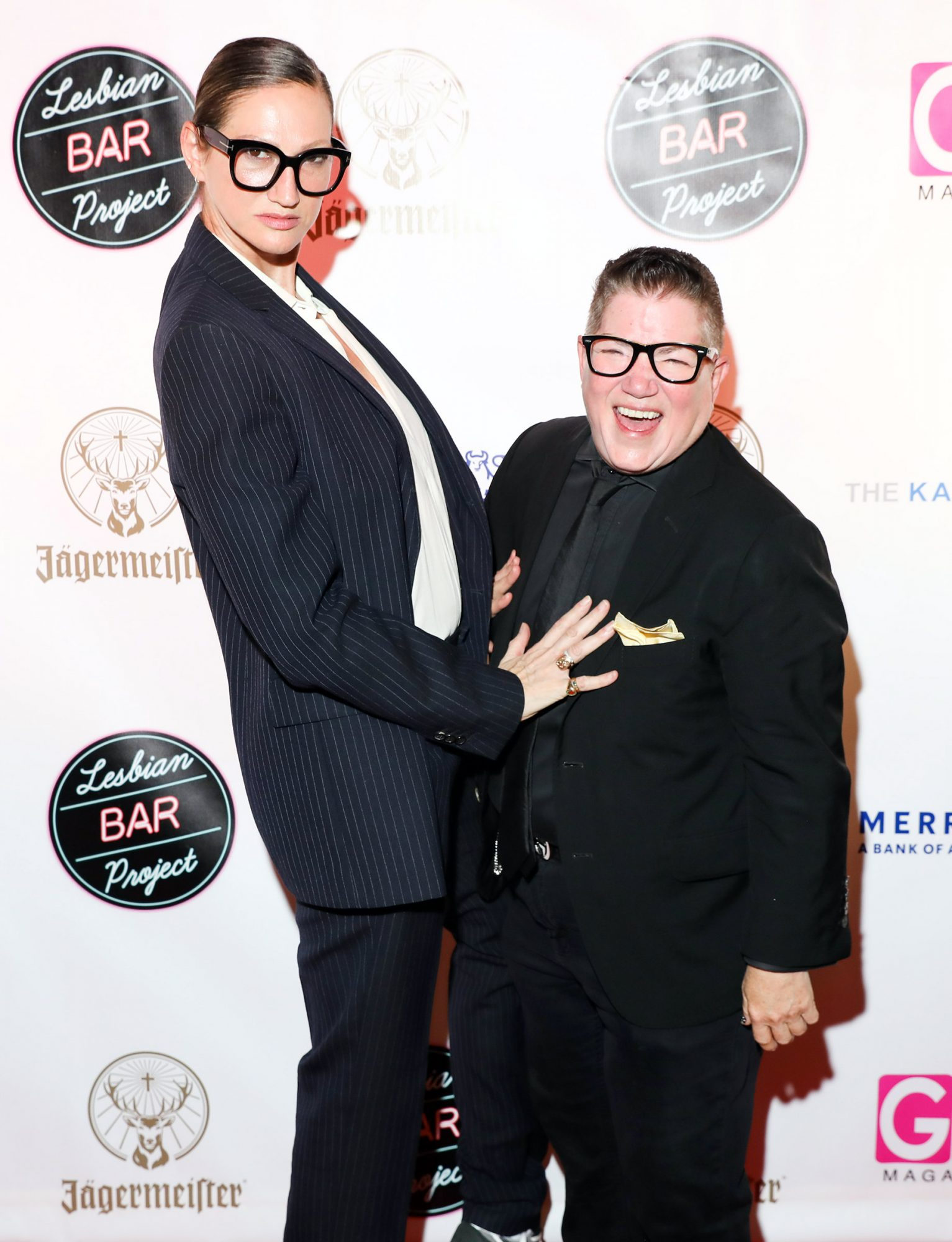 Jenna Lyons, Lea DeLaria attend The Lesbian Bar Project Presented by Jagermeister at Harbor NYC in Manhattan on June 2, 2021