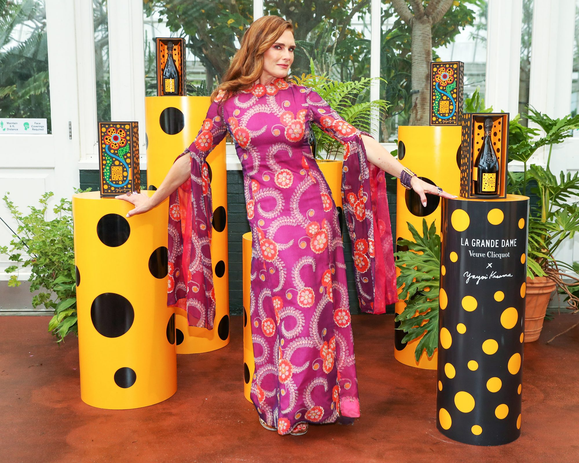 Brooke Shields attends the New York Botanical Garden Gala + Veuve Clicquot Cocktail Hour at the New York Botanical Garden, NYC on June 3, 2021