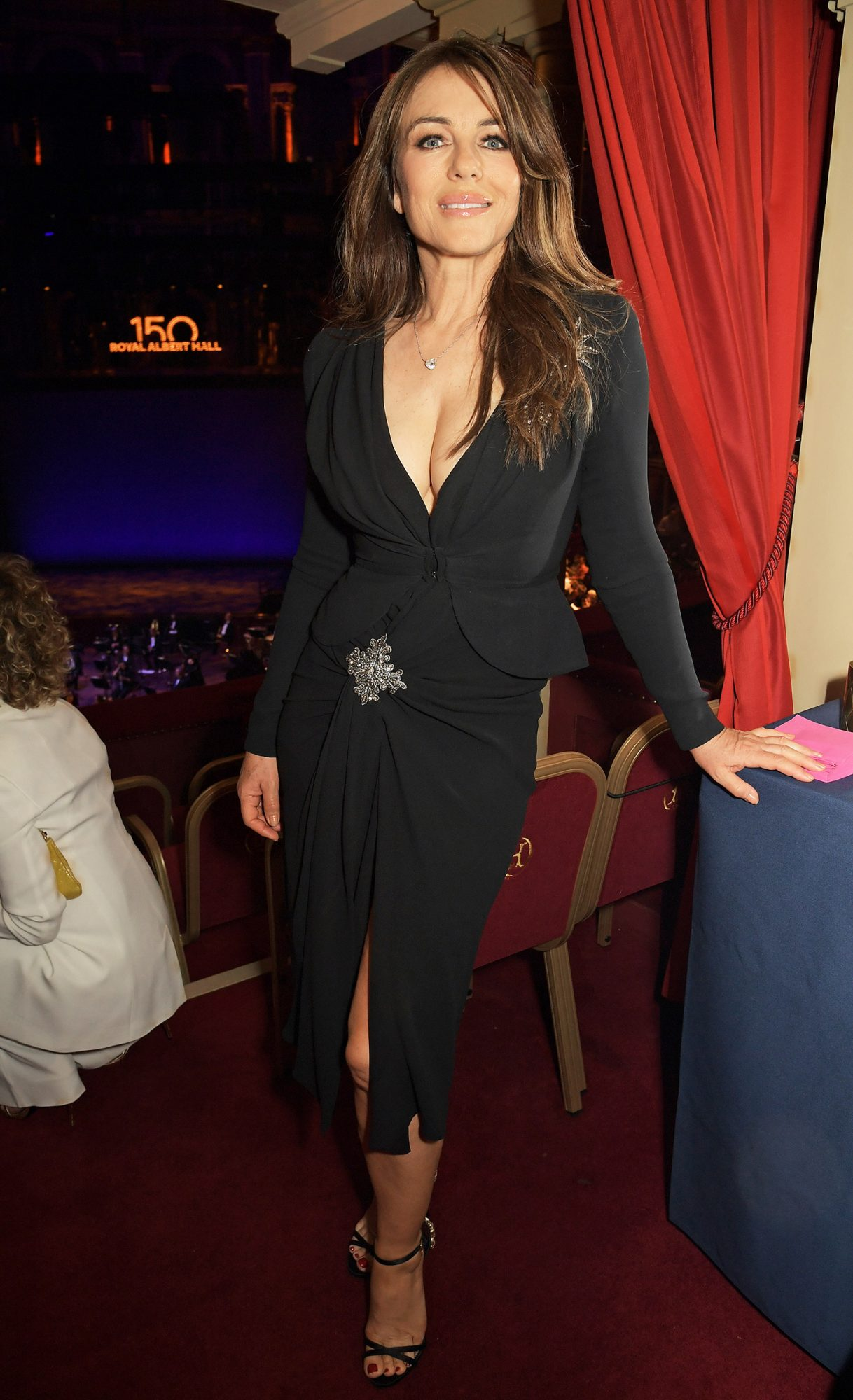 Elizabeth Hurley attends the inaugural British Ballet Charity Gala presented by Dame Darcey Bussell at The Royal Albert Hall on June 03, 2021 in London, England