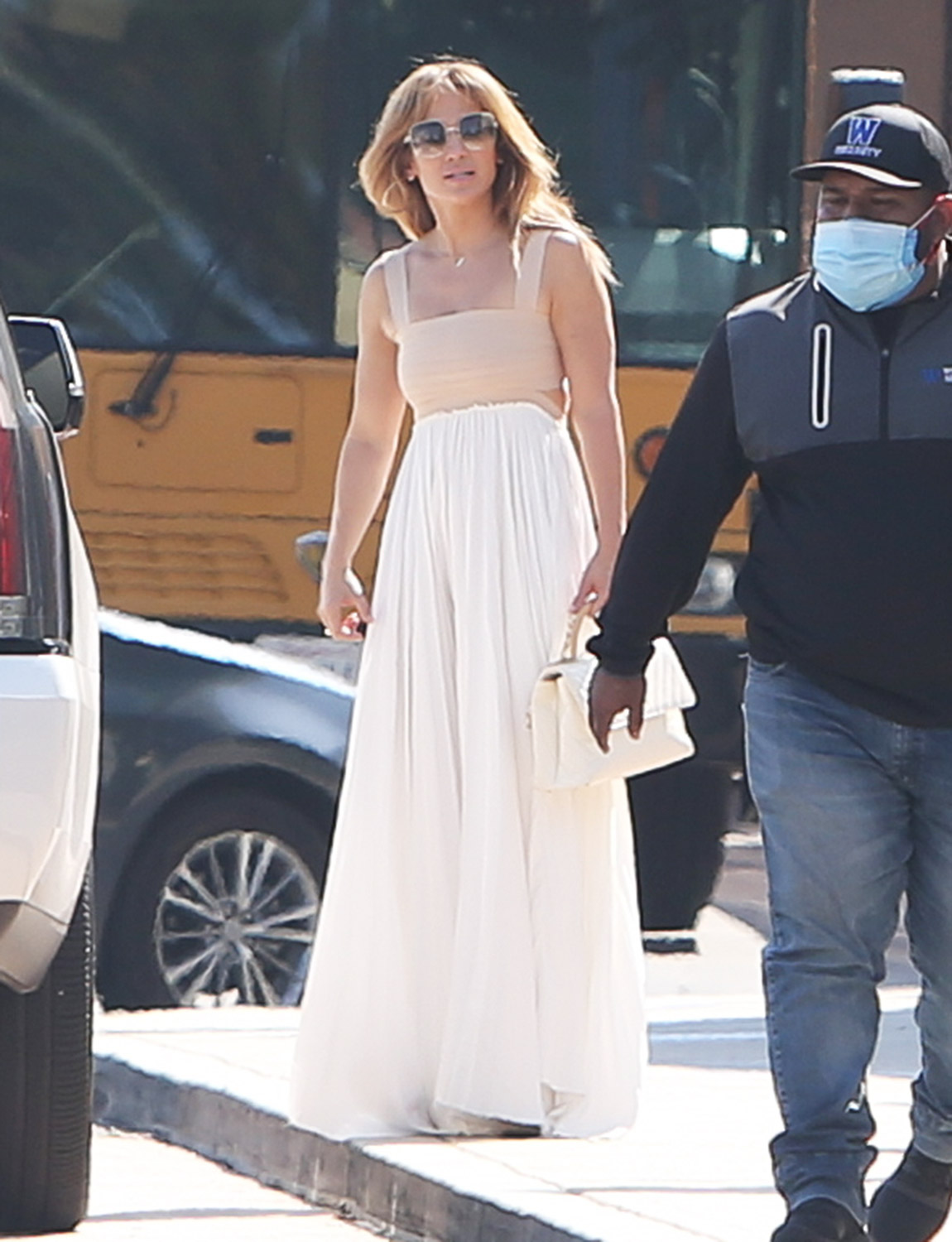 Jennifer Lopez Looks Ethereal In A Romantic Flowing Skirt As She Steps Out In Los Angeles.