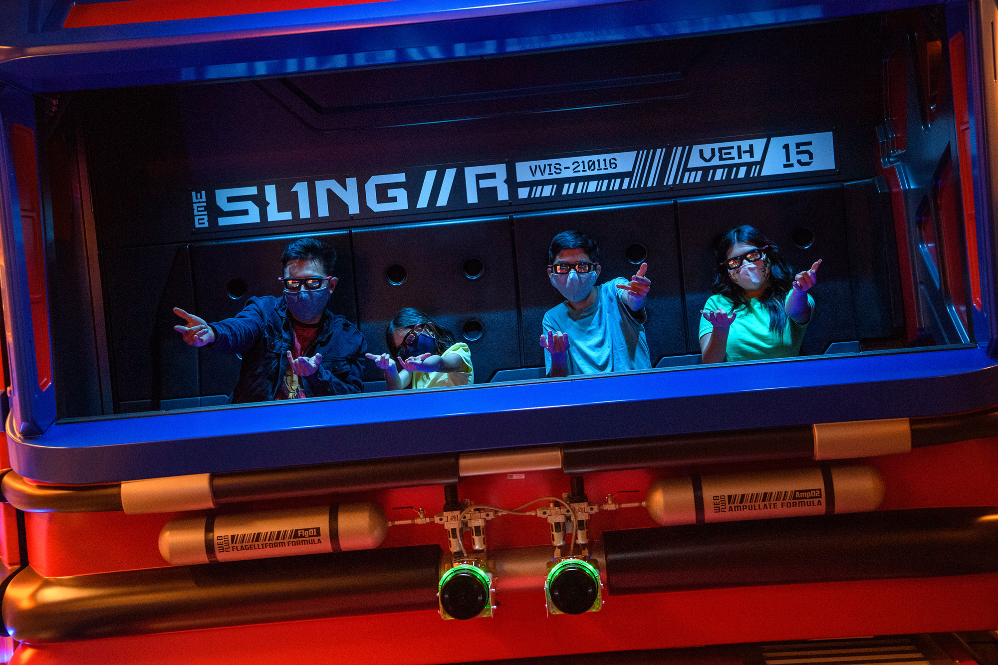 What It's Really Like Inside Disney's New Ride Web Slingers: A Spider-Man Adventure | PEOPLE.com