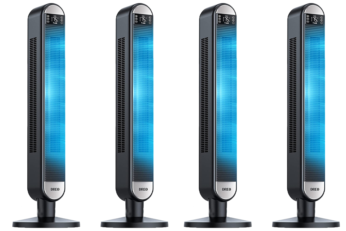 Tower Fan with Remote Dreo 90° Wide Oscillating Fans