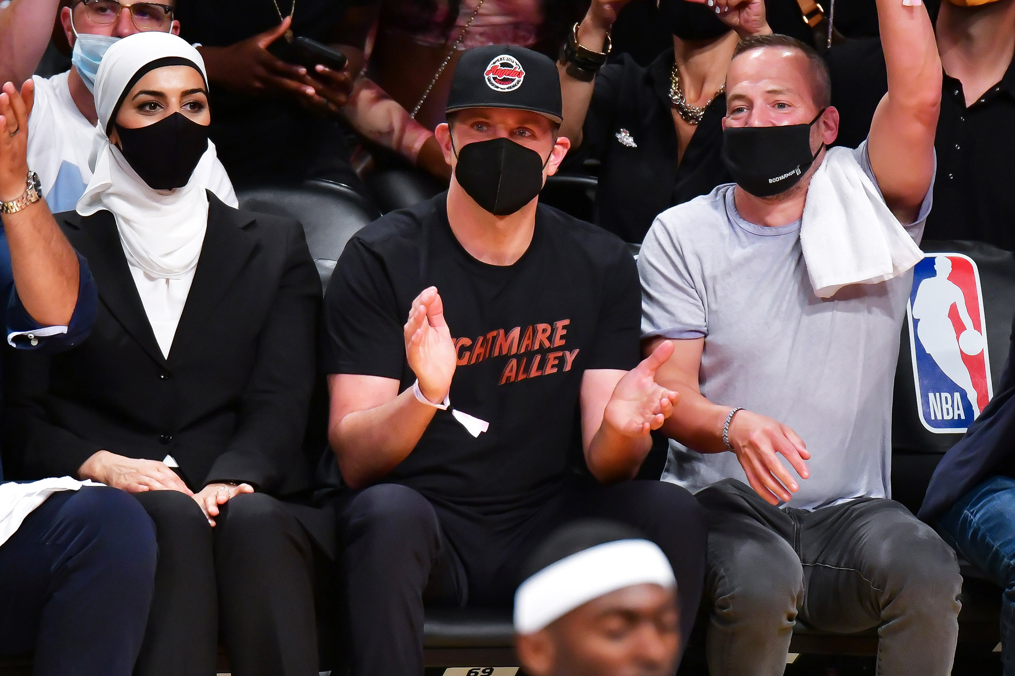 Bradley Cooper attends Brooklyn Nets v Milwaukee Bucks game at Barclays Center of Brooklyn on June 07, 2021 in New York City