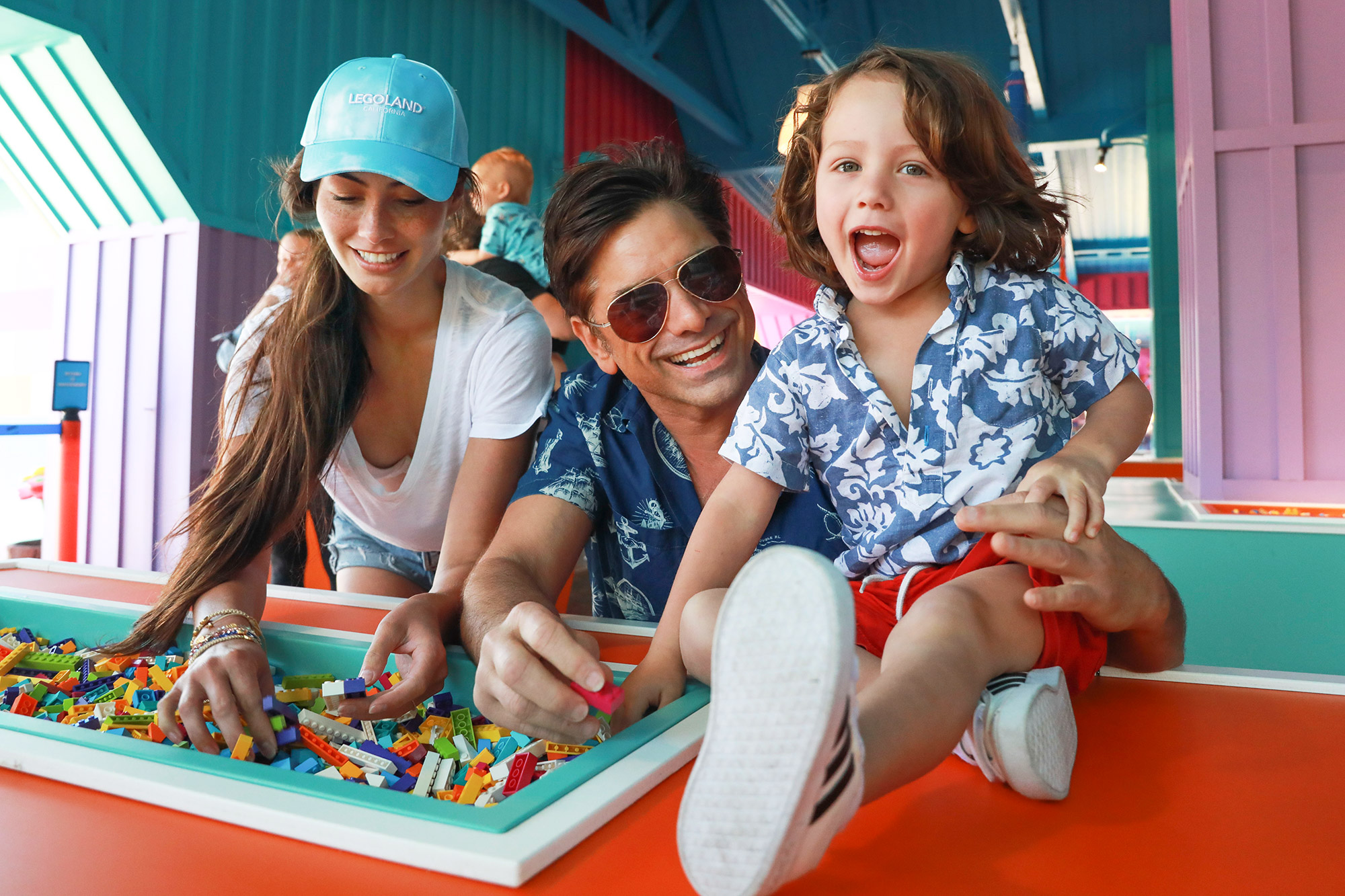 John Stamos and family on a visit to Legoland California on Saturday, June 5, 2021 in Carlsbad, CA.