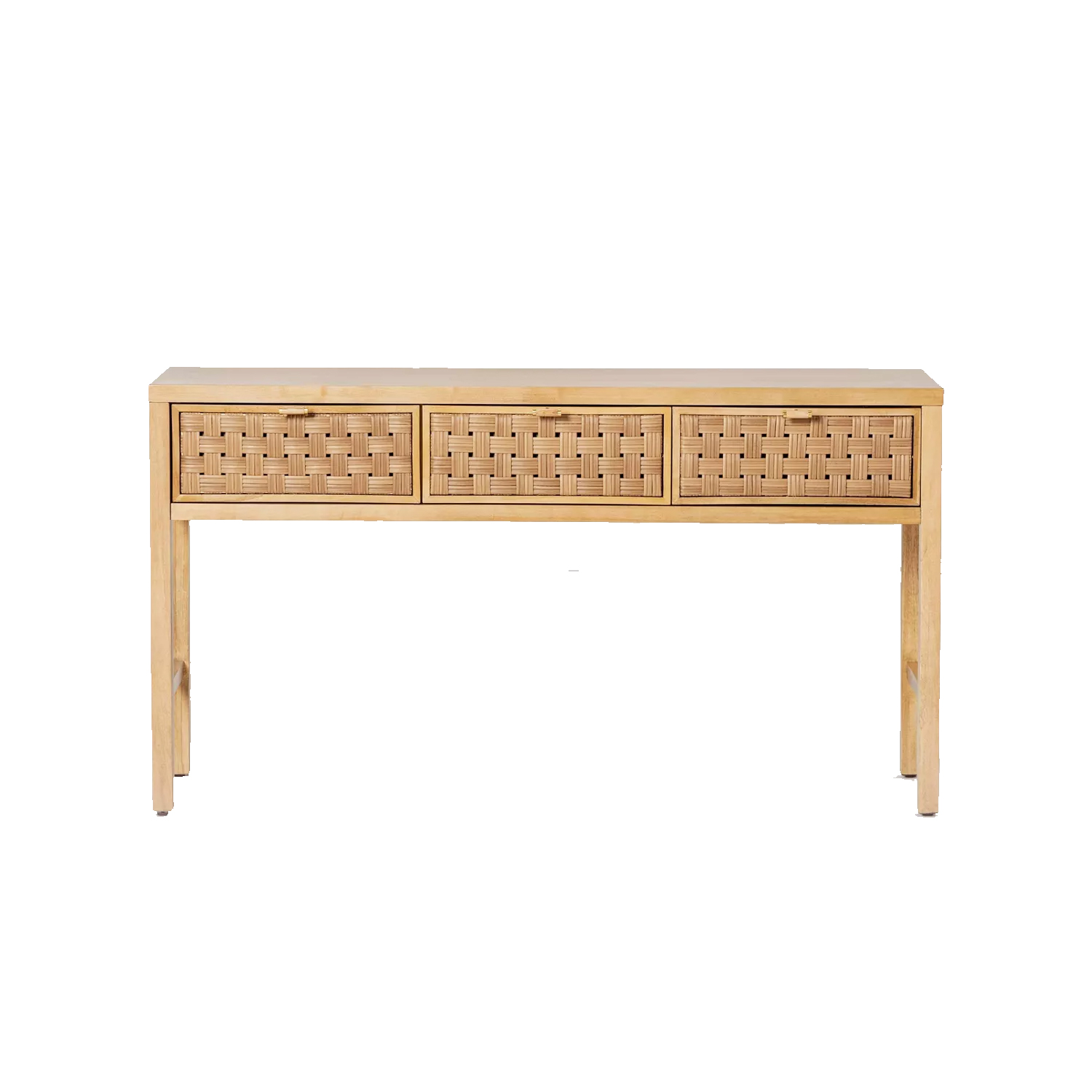 rattan wooden console table