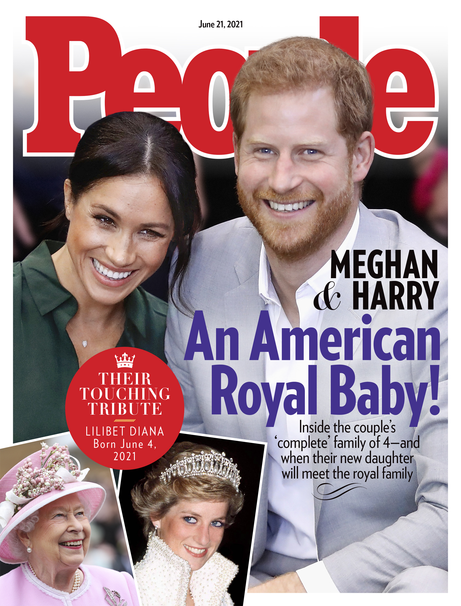 Prince Harry and Meghan Markle Royals Cover