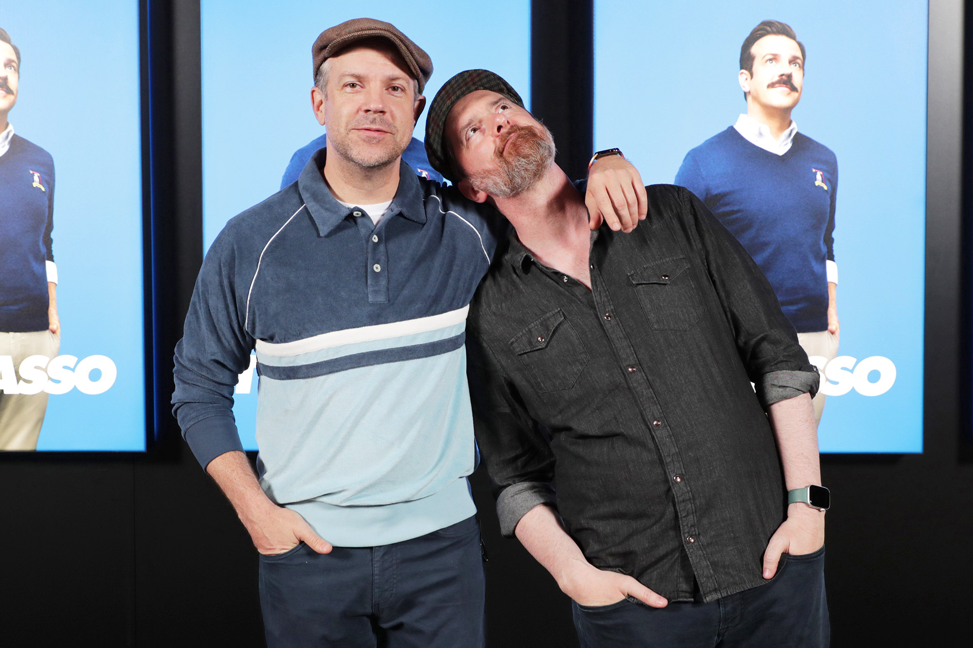 """Jason Sudeikis and Brendan Hunt of """"Ted Lasso"""" at Apple's FYC Summer Screening Series at The Ford Amphitheater"""