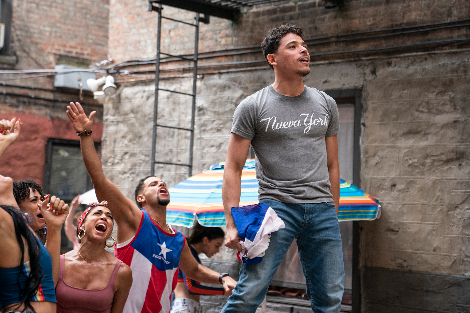"""ANTHONY RAMOS as Usnavi in Warner Bros. Pictures' """"IN THE HEIGHTS,"""" a Warner Bros."""