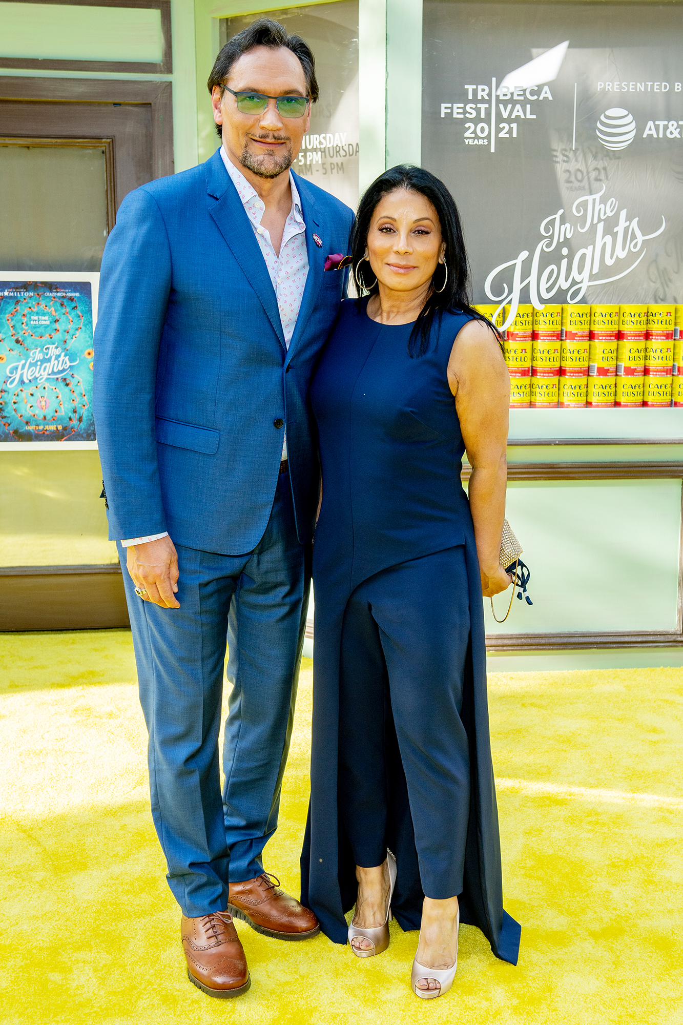 """Jimmy Smits and Wanda De Jesus attend """"In The Heights"""" 2021 Tribeca Festival opening night premiere at United Palace"""