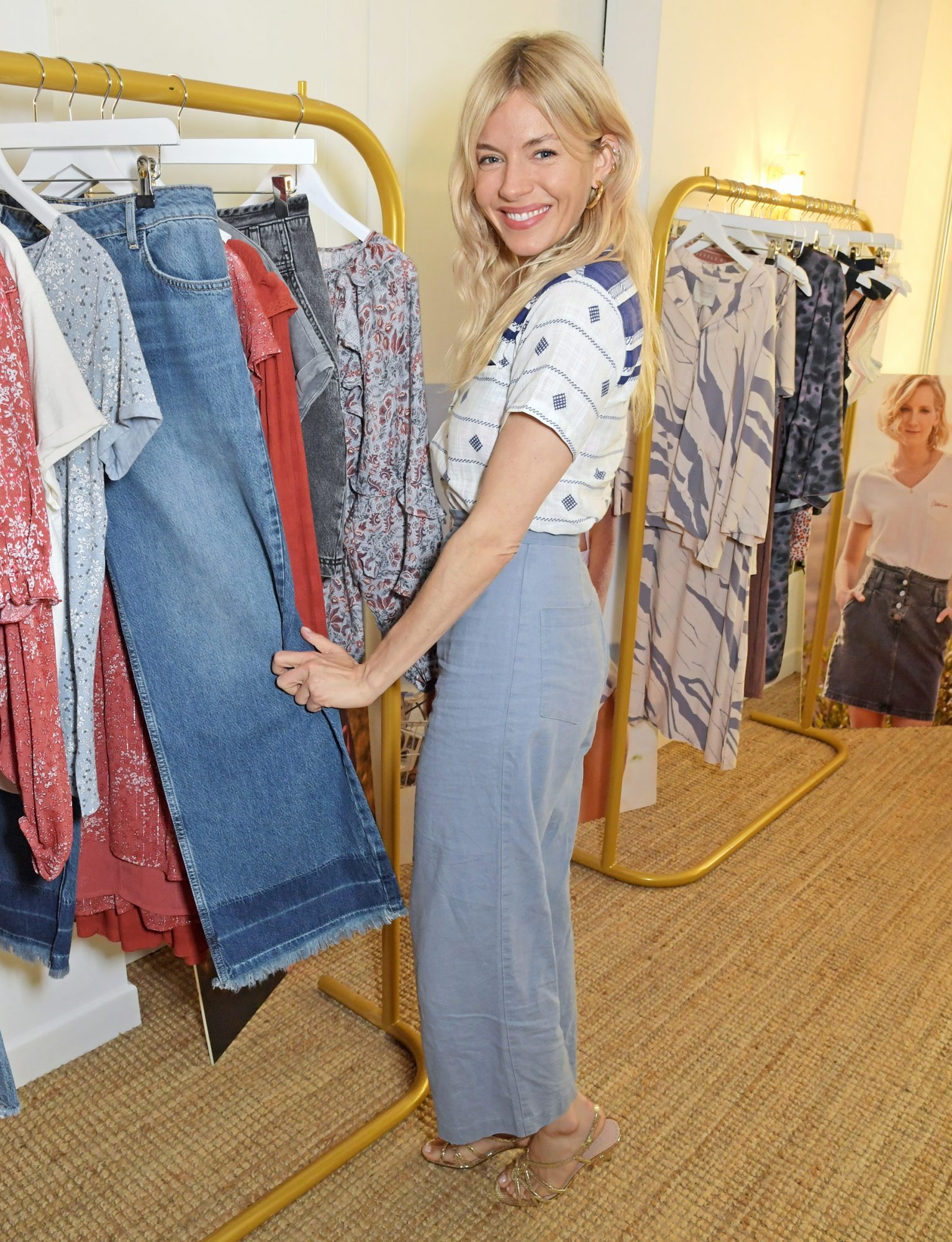 Sienna Miller attends the launch of the Savannah Miller x Next collection at SohoWorks on June 10, 2021 in London, England