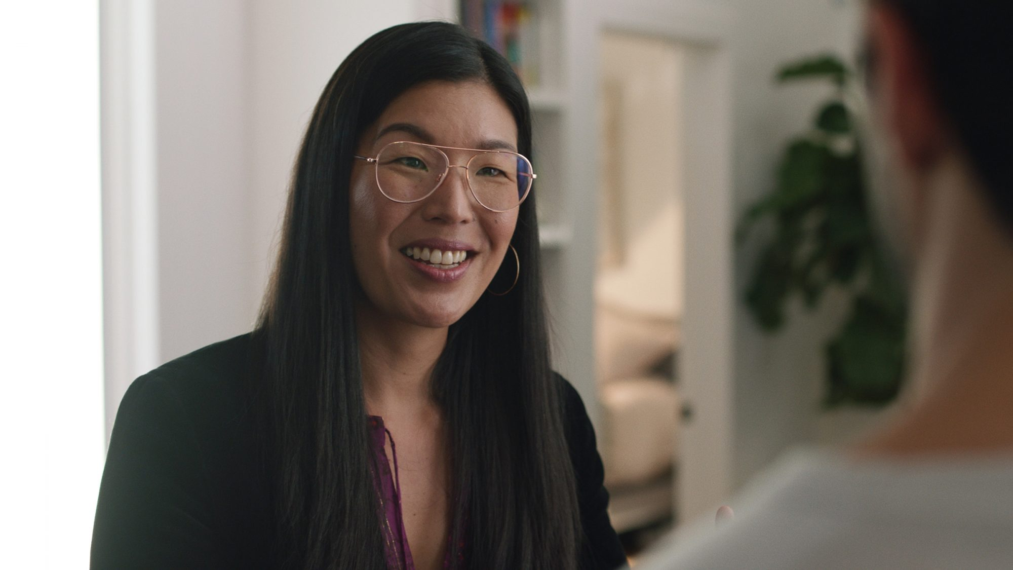 """Ai-jen Poo in an episode of """"Man Enough"""" from actor Justin Baldoni and Caring Across Generations"""