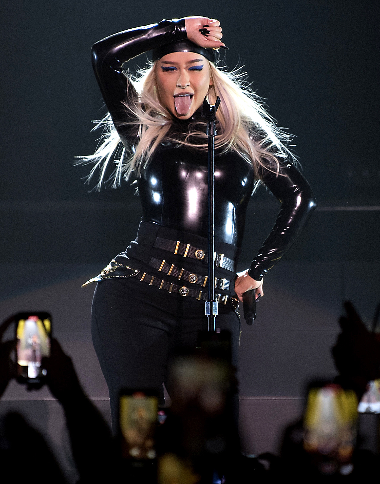 Christina Aguilera performs during the Unstoppable Weekend grand opening celebration at The Theater at Virgin Hotels Las Vegas