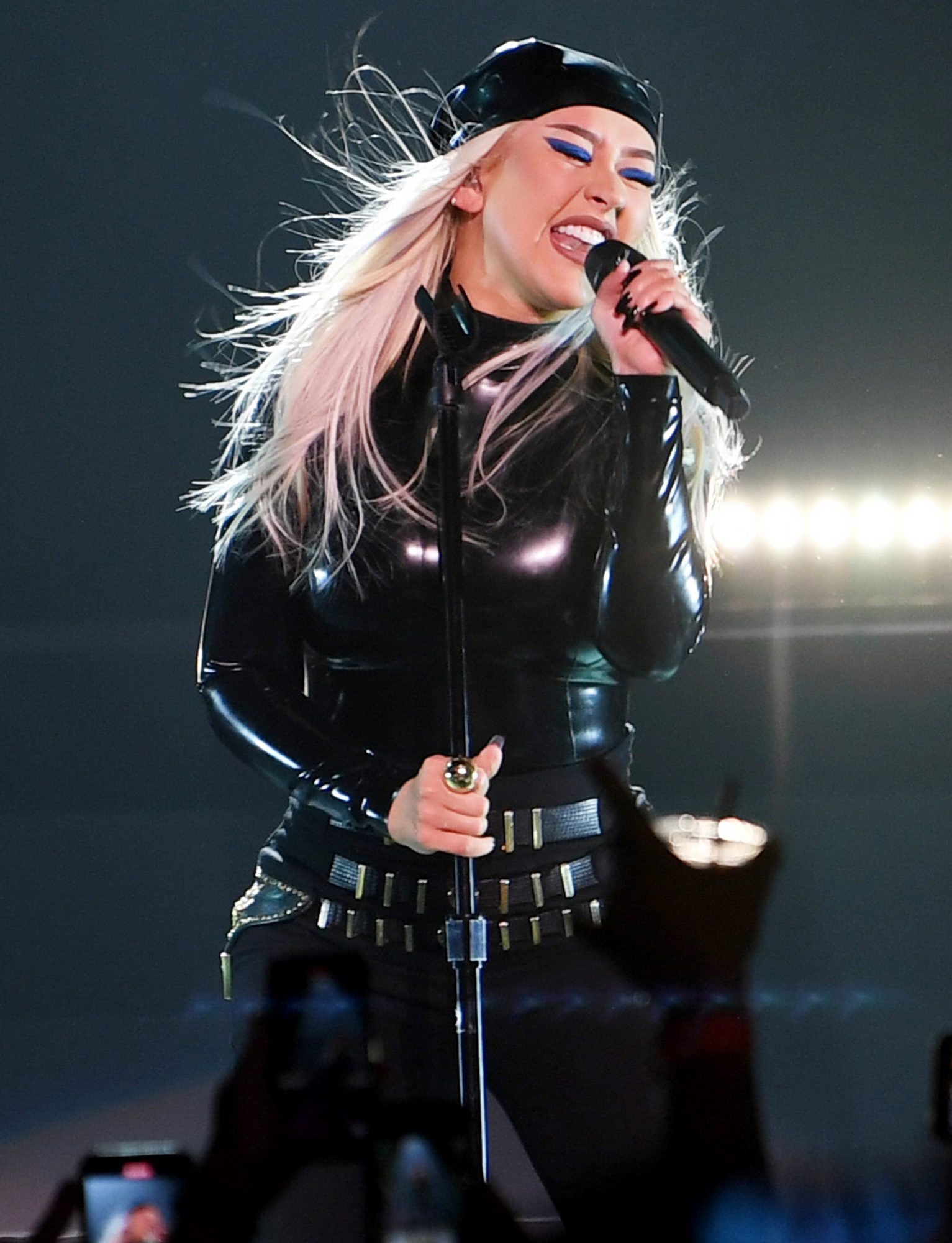 Christina Aguilera performs during the Unstoppable Weekend grand opening celebration at The Theater at Virgin Hotels Las Vegas on June 10, 2021 in Las Vegas, Nevada