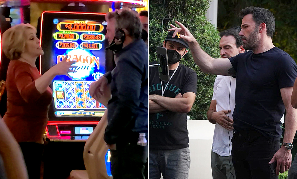 Ben Affleck spotted filming next to Jennifer Lopez's mom Guadalupe Lopez as she shows her enthusiasm on set in Wynn hotel Las Vegas. Ben, who has renewed his relationship with old flame J-Lo, was all smiles on the set as he filmed a giant casino scene with lots of added security