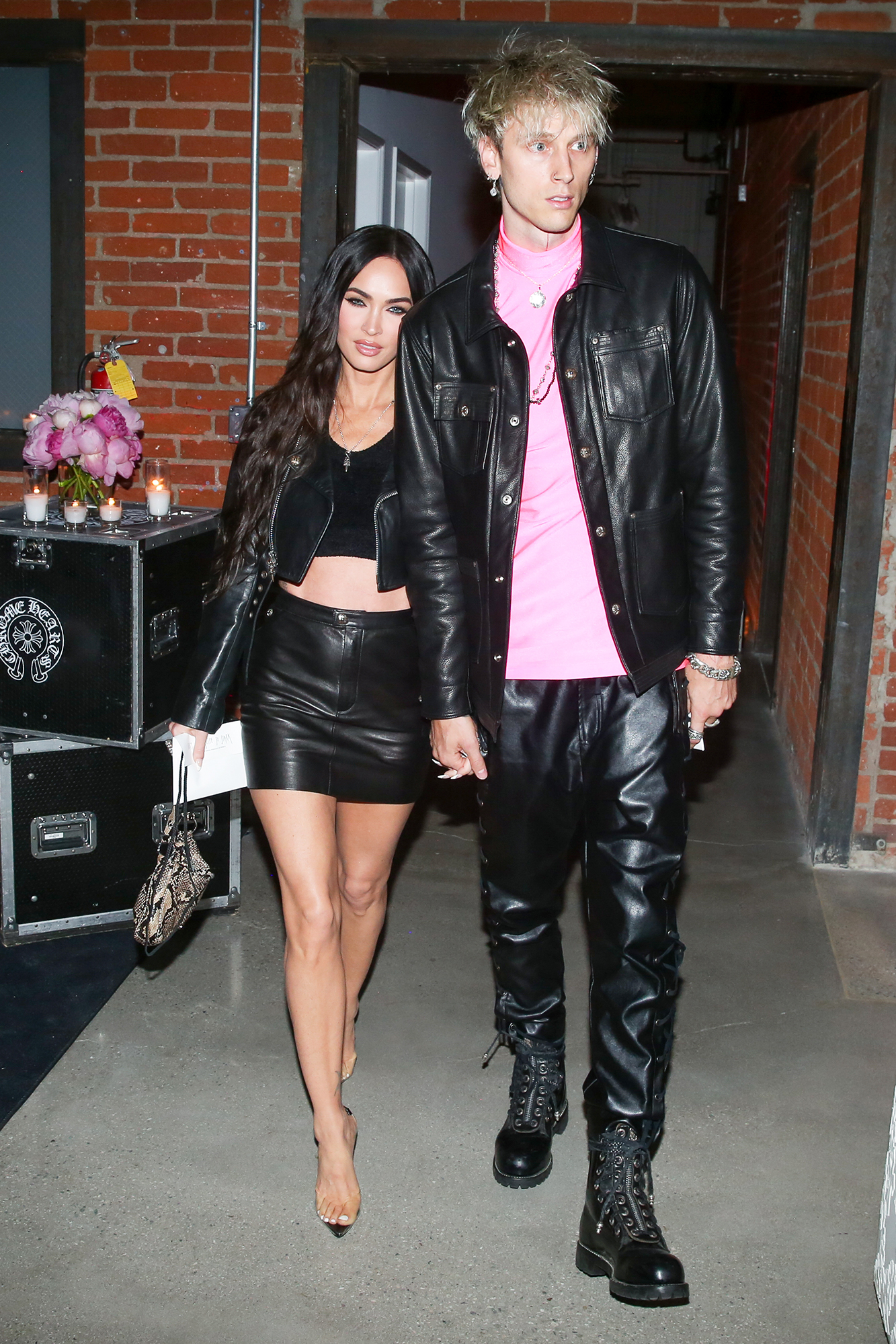 Megan Fox and Machine Gun Kelly attend Jesse Jo Host's Private Dinner Party to Celebrate Launch of her Sugar Jones Collection for Chrome Hearts in Los Angeles on June 10, 2021