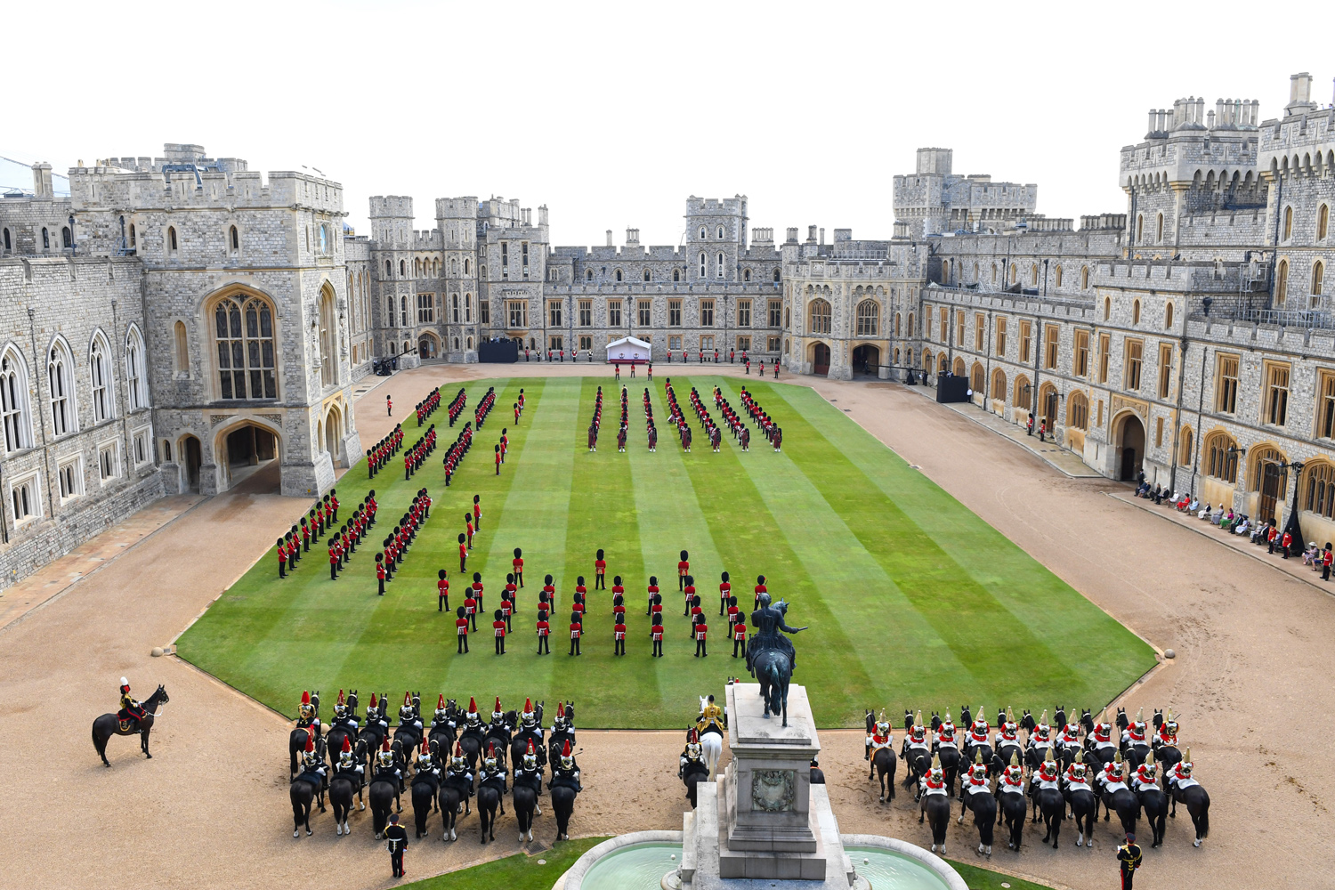 Trooping Of The Colour 2021 at Windsor Castle