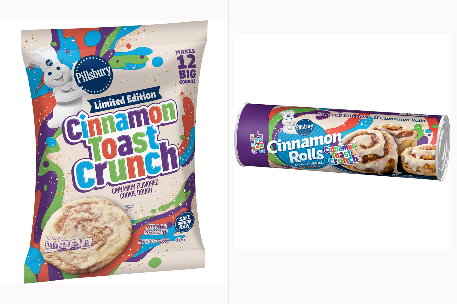 Cinnamon Toast Crunch Flavored Cookie Dough and Cinnamon Rolls