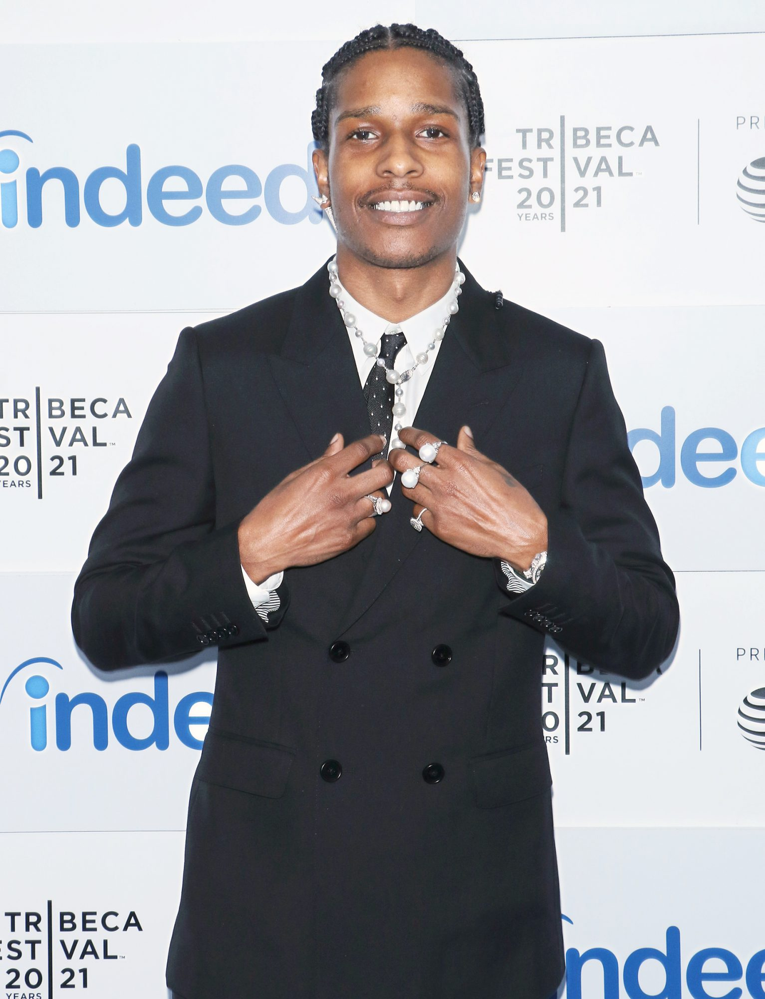 """Rapper ASAP Rocky attends the """"Stockholm Syndrome"""" premiere during the 2021 Tribeca Festival at The Battery on June 13, 2021 in New York City"""