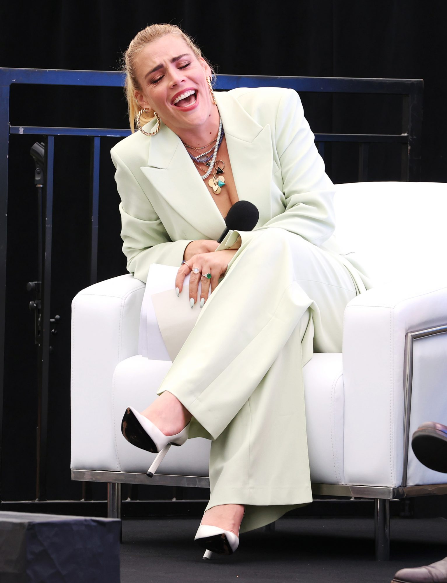 Busy Philipps speaks during the 2021 Tribeca Festival Tribeca Talks: Tina Fey & Co. at Spring Studios on June 11, 2021 in New York City
