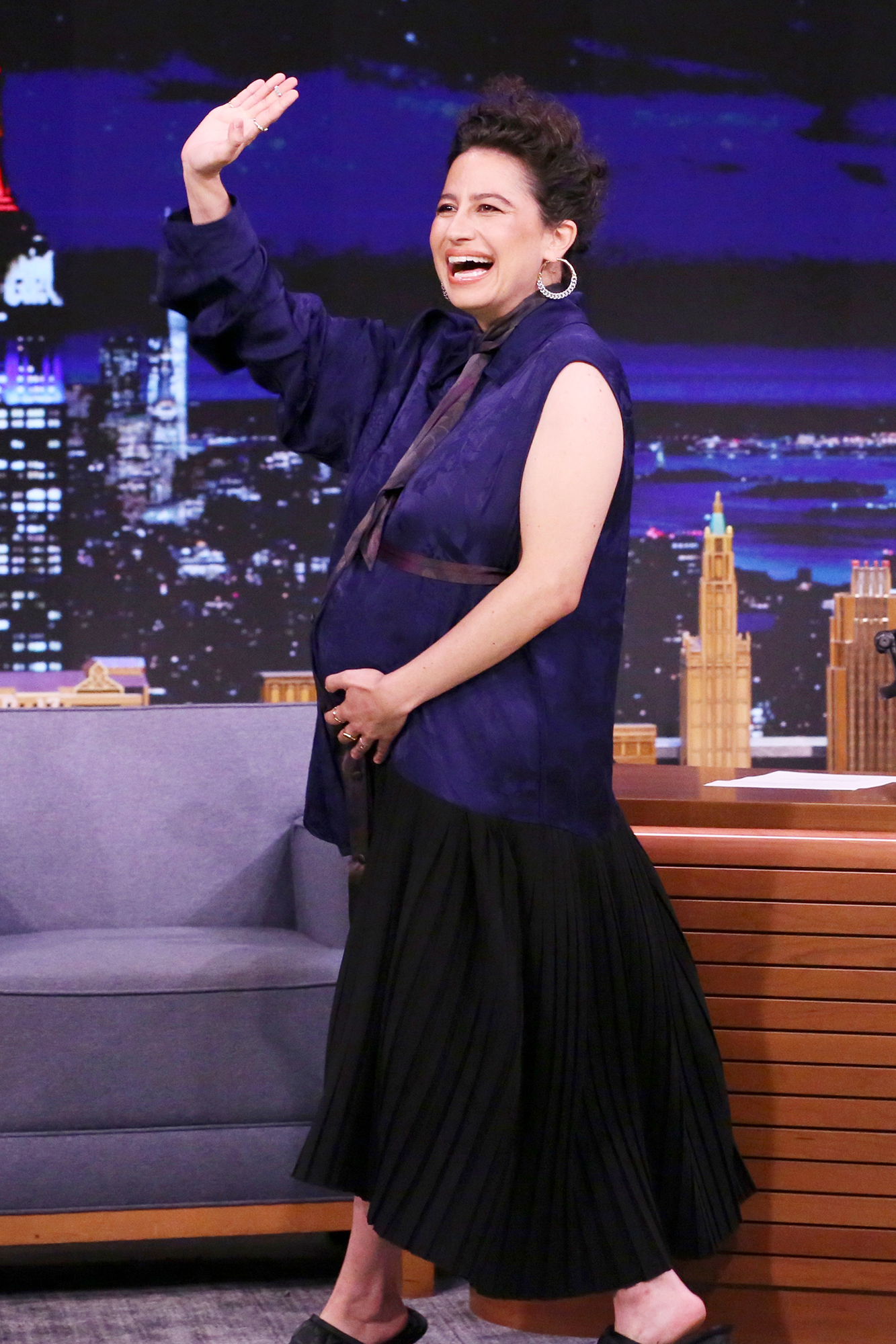 THE TONIGHT SHOW STARRING JIMMY FALLON -- Episode 1479 -- Pictured: Actress Ilana Glazer arrives on Monday, June 14, 2021 -