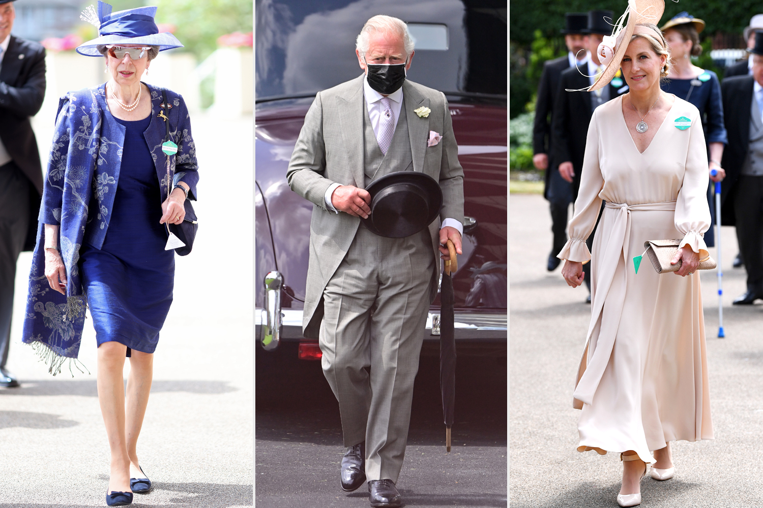 Princess Anne, Princess Royal; Prince Charles, Prince of Wales; Sophie, Countess of Wessex