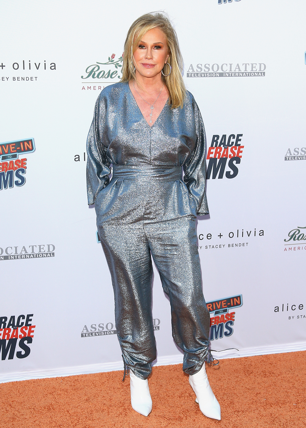 Kathy Hilton attends the 28th Annual Race To Erase MS: Drive-In Gala at Rose Bowl on June 04, 2021 in Pasadena, California.