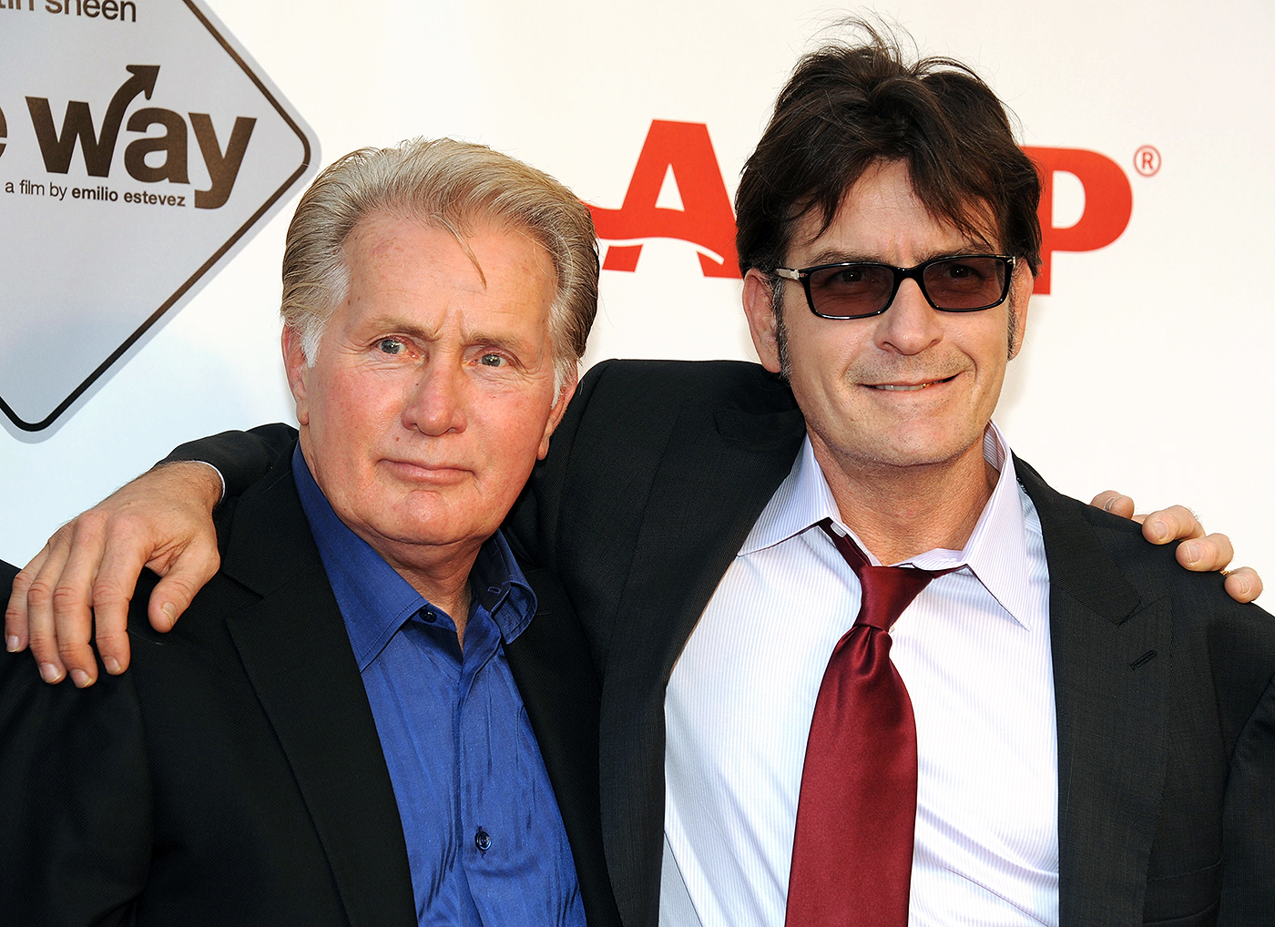 Father-son duo and actor Martin and Charlie Sheen