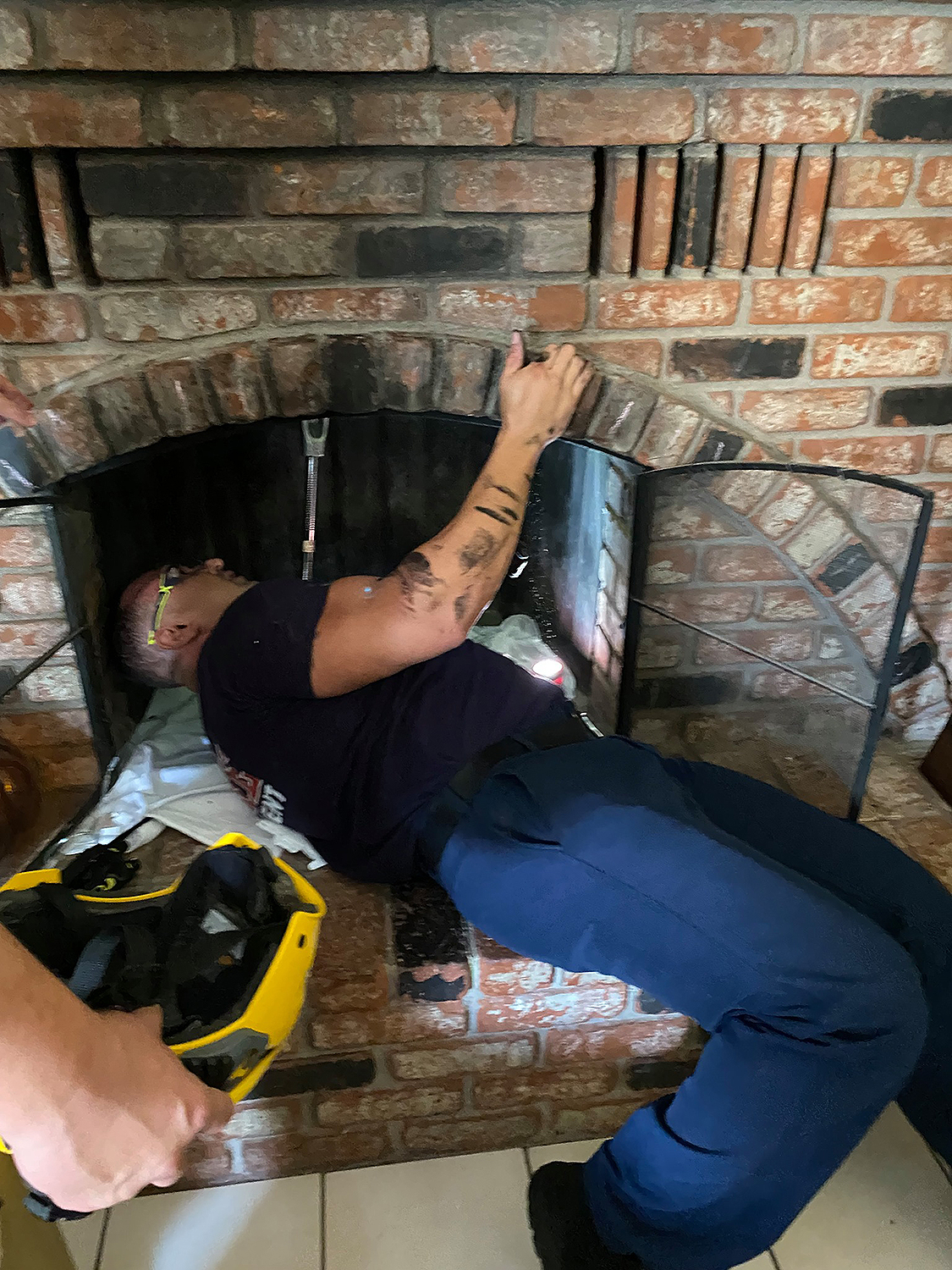 teen rescued from chimney