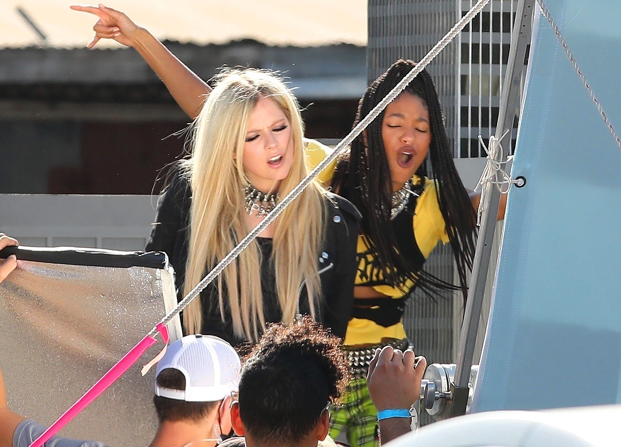 Avril Lavigne and Willow Smith