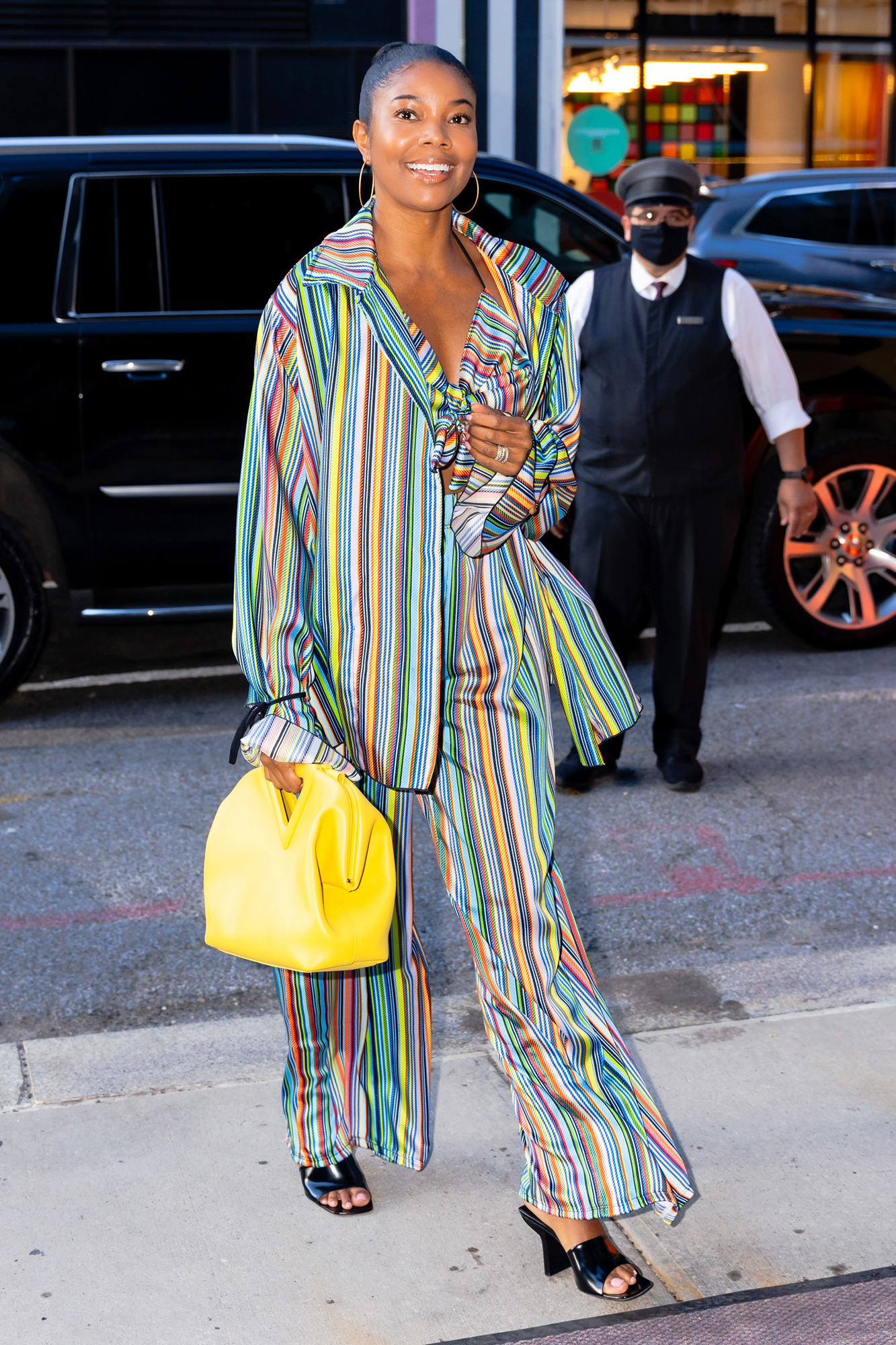 Gabrielle Union is all smiles as she steps out in New York City