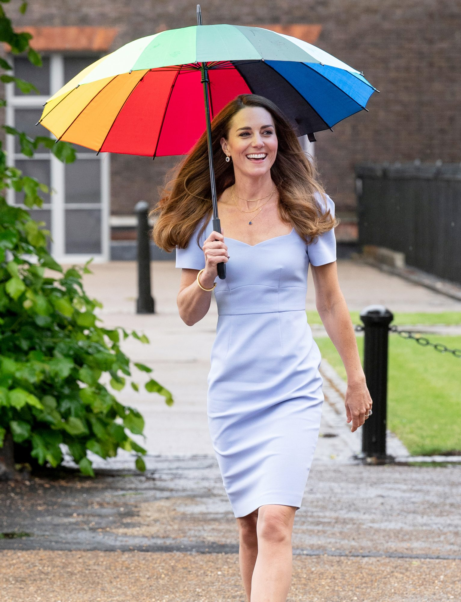 Catherine, Duchess of Cambridge arrives at a reception to meet parents of users of a Centre for Early Childhood in the grounds of Kensington Palace on June 18, 2021 in London, England. The Duchess of Cambridge has launched her own Centre for Early Childhood, to raise awareness of the importance of early years