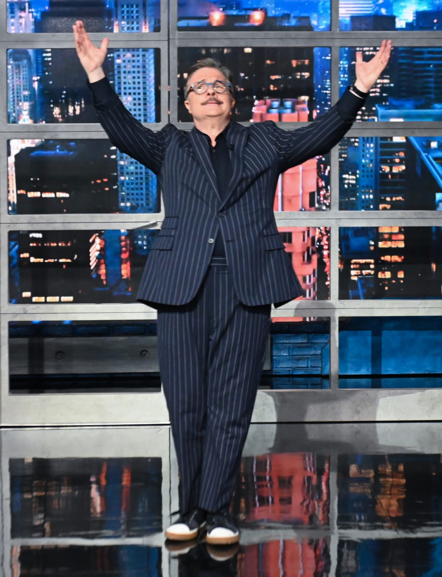 The Late Show with Stephen Colbert with guest Nathan Lane during Thursday's June 17, 2021 show.