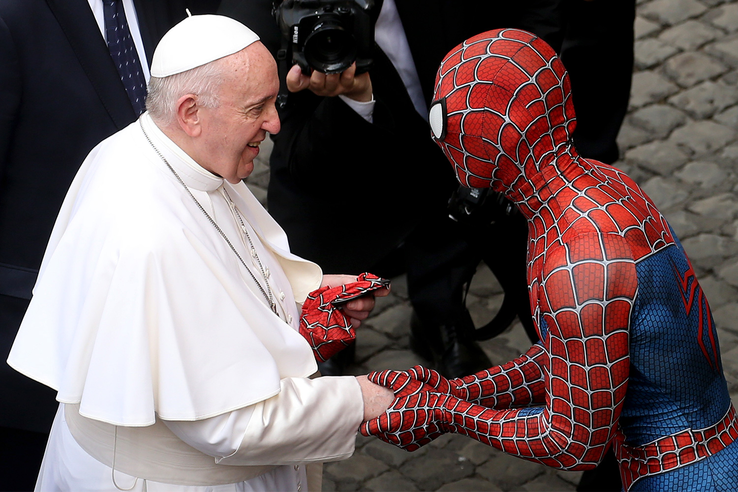 Pope Francis and Spider-Man