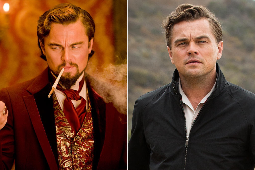 Leonardo Dicaprio in Django Unchained and Once Upon a Time in Hollywood