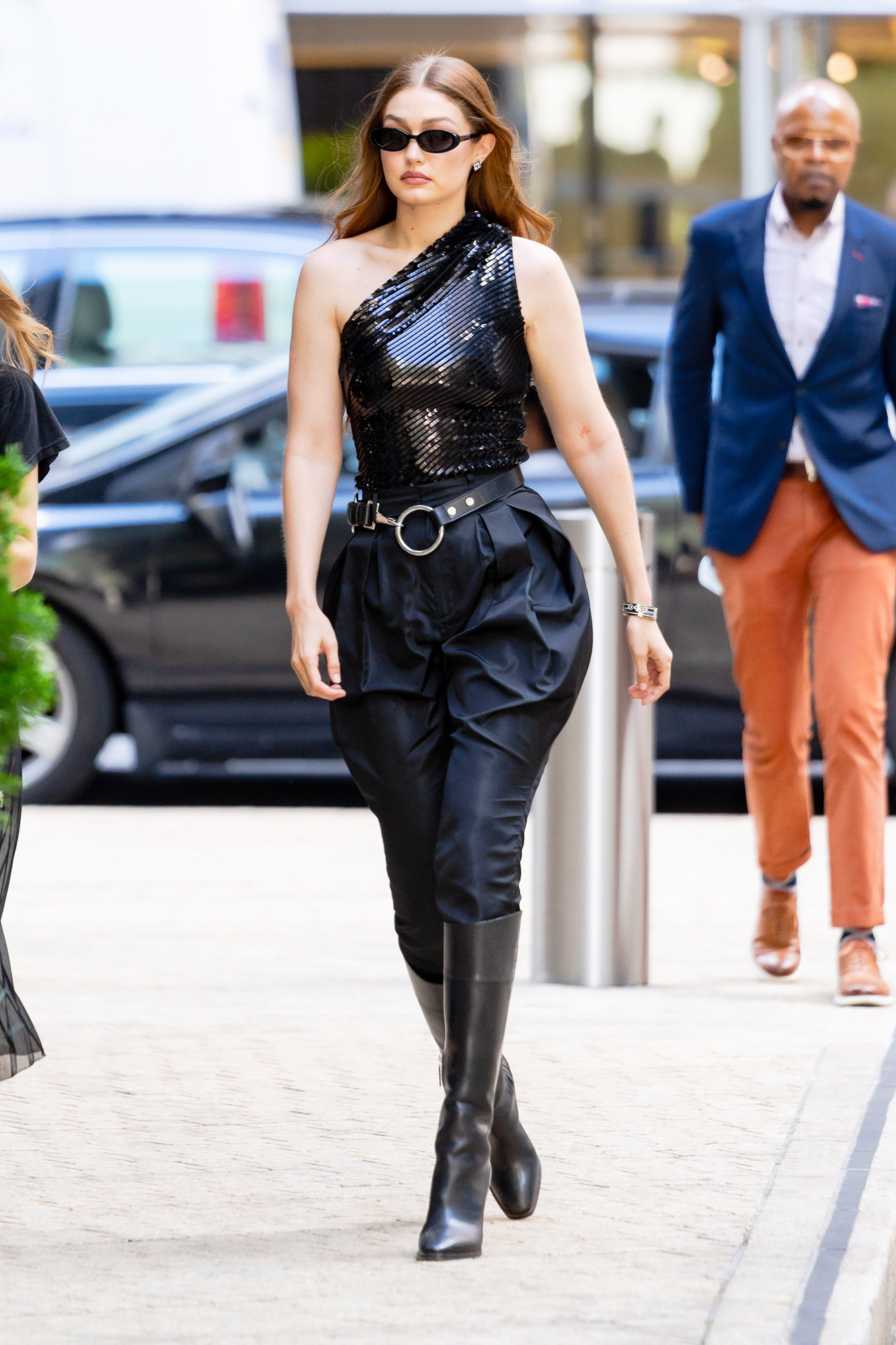 Gigi Hadid is spotted headed to a photoshoot in New York City.