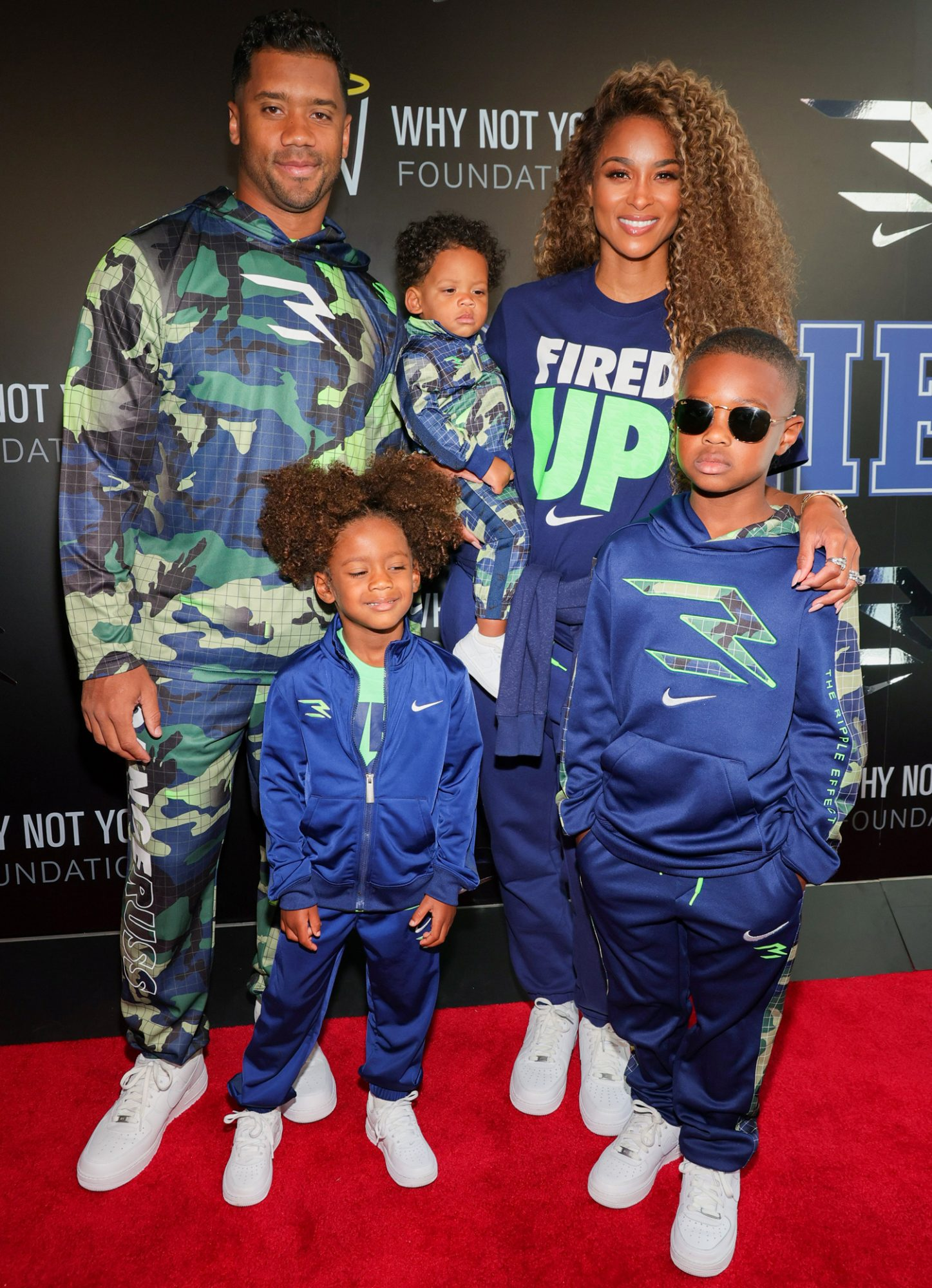 Russell Wilson and Ciara attend as Russell Wilson & Ciara Launch 3Brand At Rookie USA Flagship