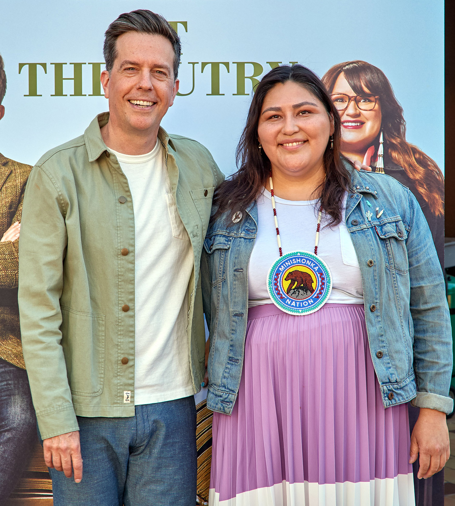 Ed Helms and Sierra Teller Rutherford Falls and The Autry Museum of the West, Photocall, Los Angeles, USA - 26 Jun 2021